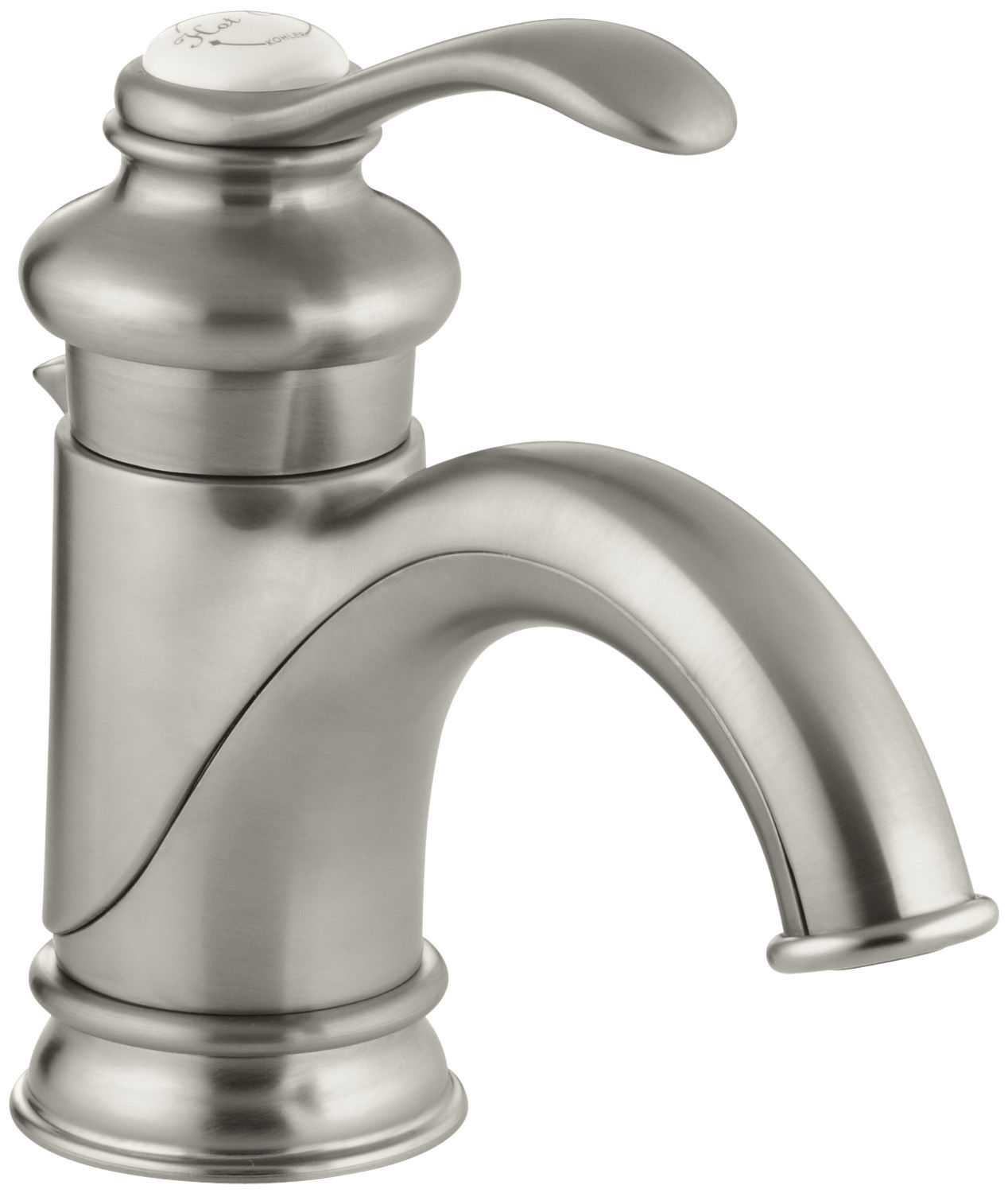 Kohler K-12182-BN Brushed Nickel Fairfax Single Hole Bathroom Faucet ...