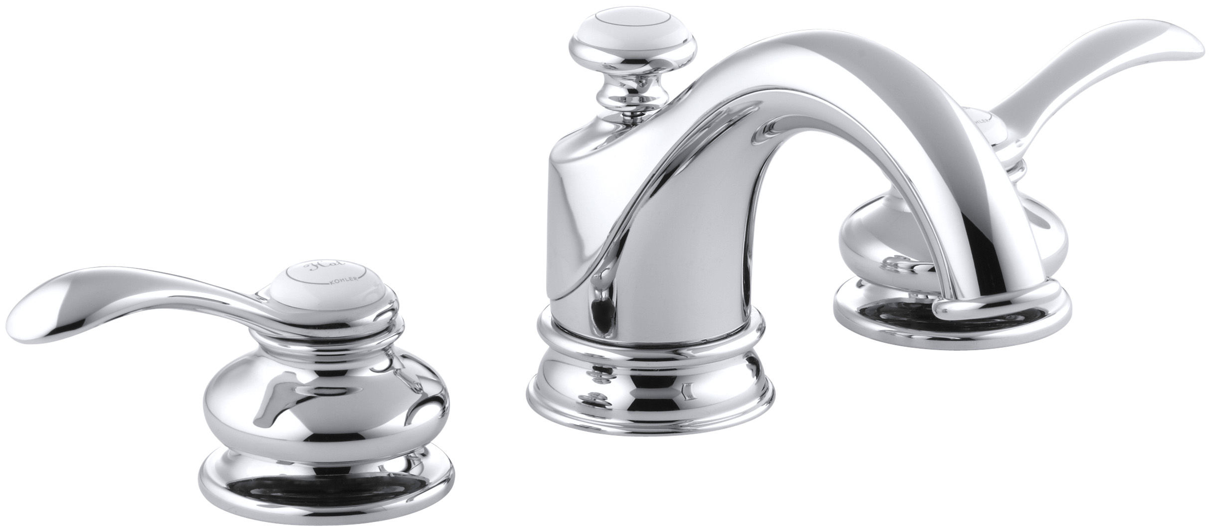 Kohler K 12265 4 Cp Polished Chrome Fairfax Widespread Bathroom Faucet With Ultra Glide Valve Technology Free Metal Pop Up Drain Embly Purchase