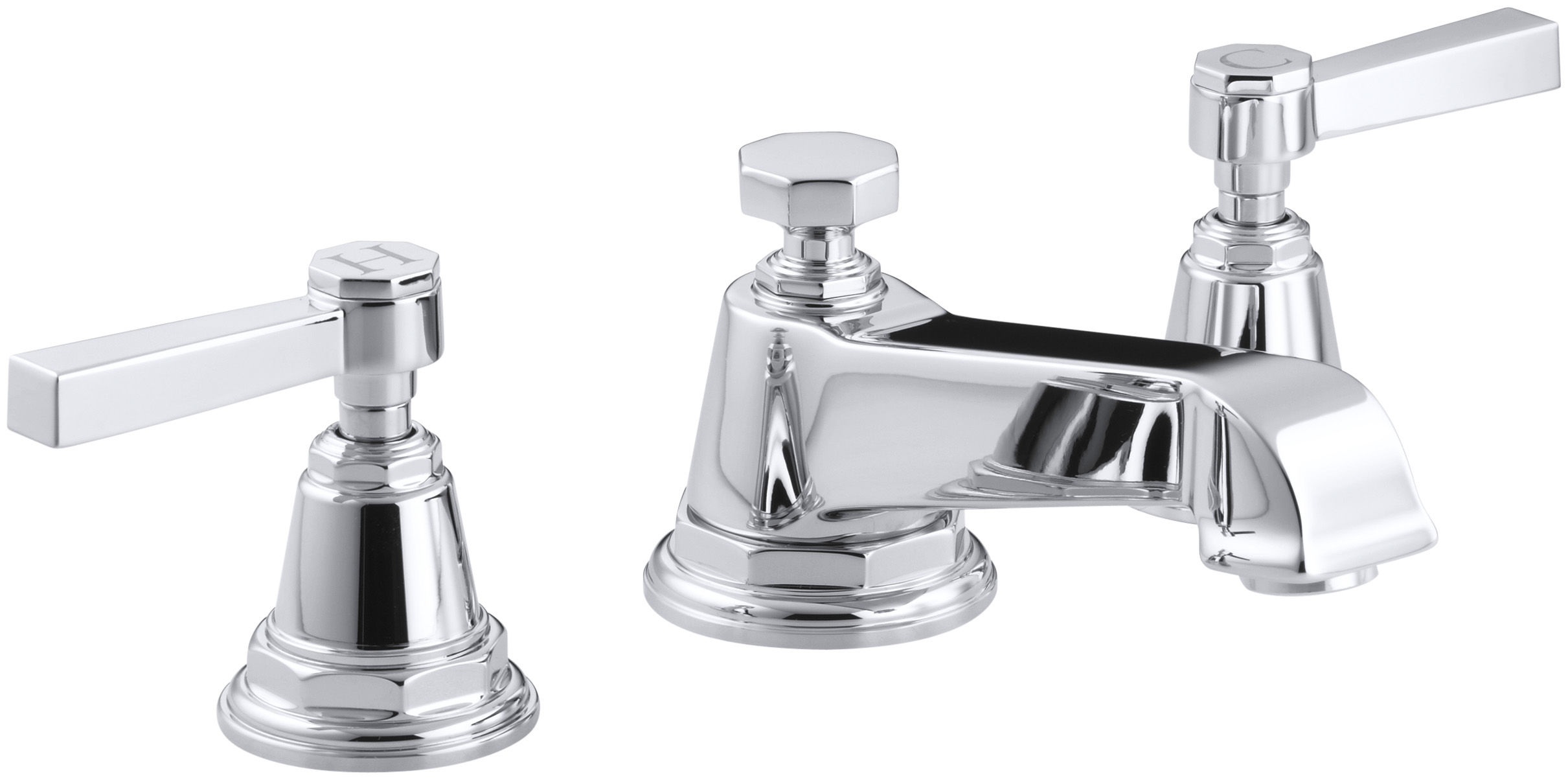 and k photo faucet widespread kohler purist faucets lever x spout with of bathroom gooseneck low