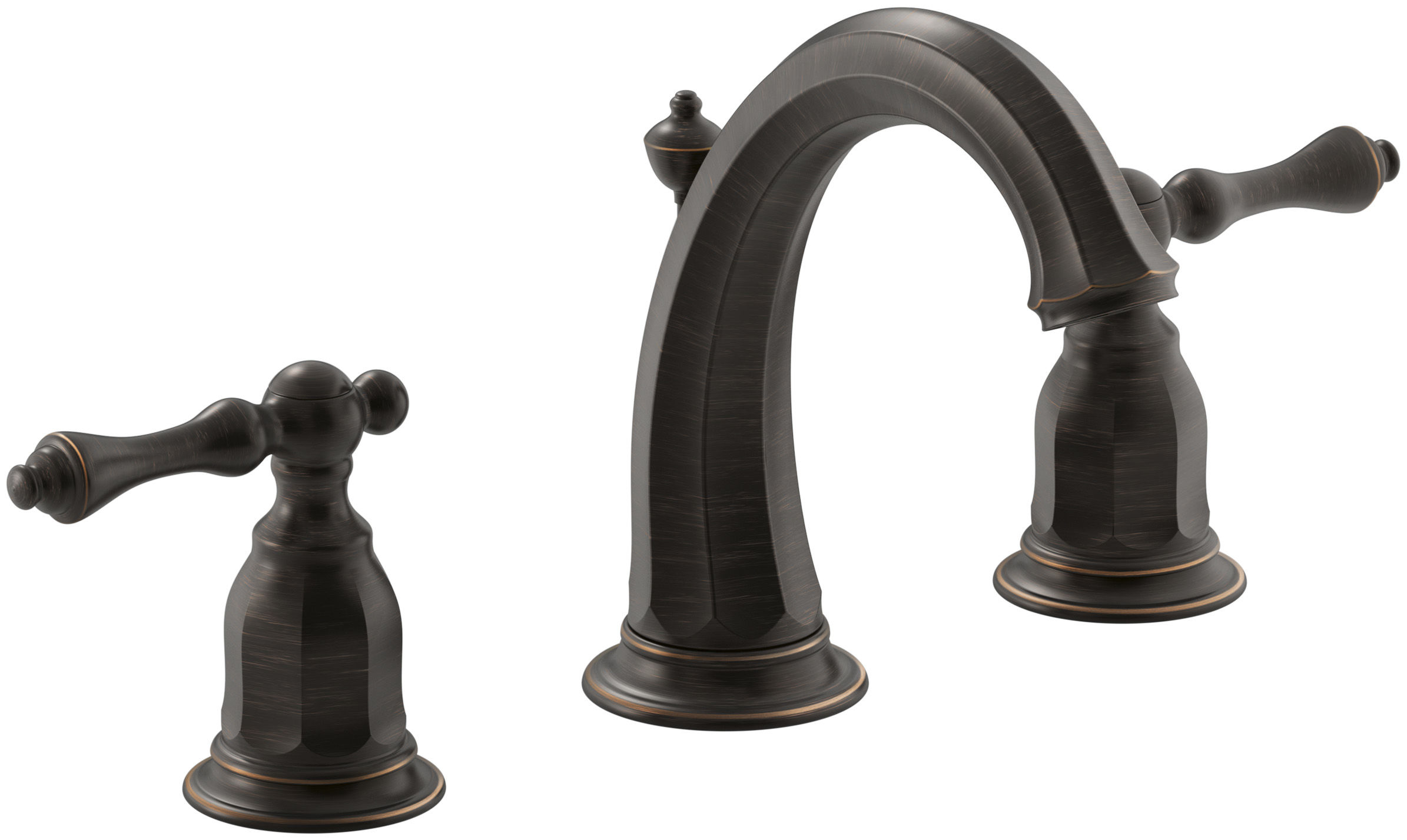Kohler K 13491 4 2bz Oil Rubbed Bronze Kelston Widespread Bathroom Faucet With Ultra Glide Valve Technology Free Metal Pop Up Drain Embly