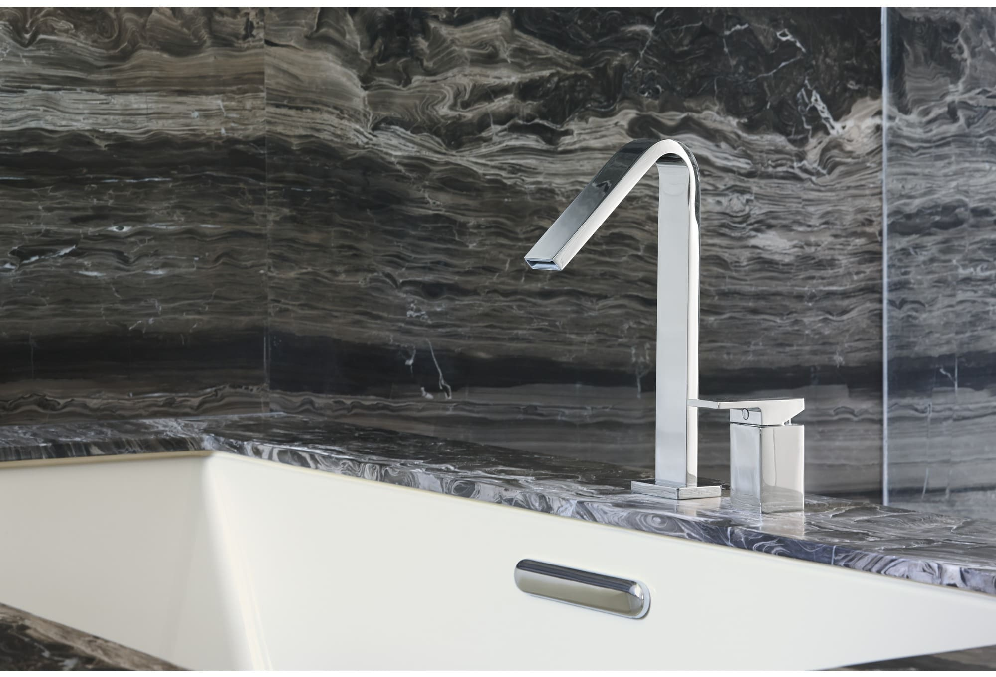 Kohler K-14675-4-CP Polished Chrome Single Handle Roman Tub Filler ...