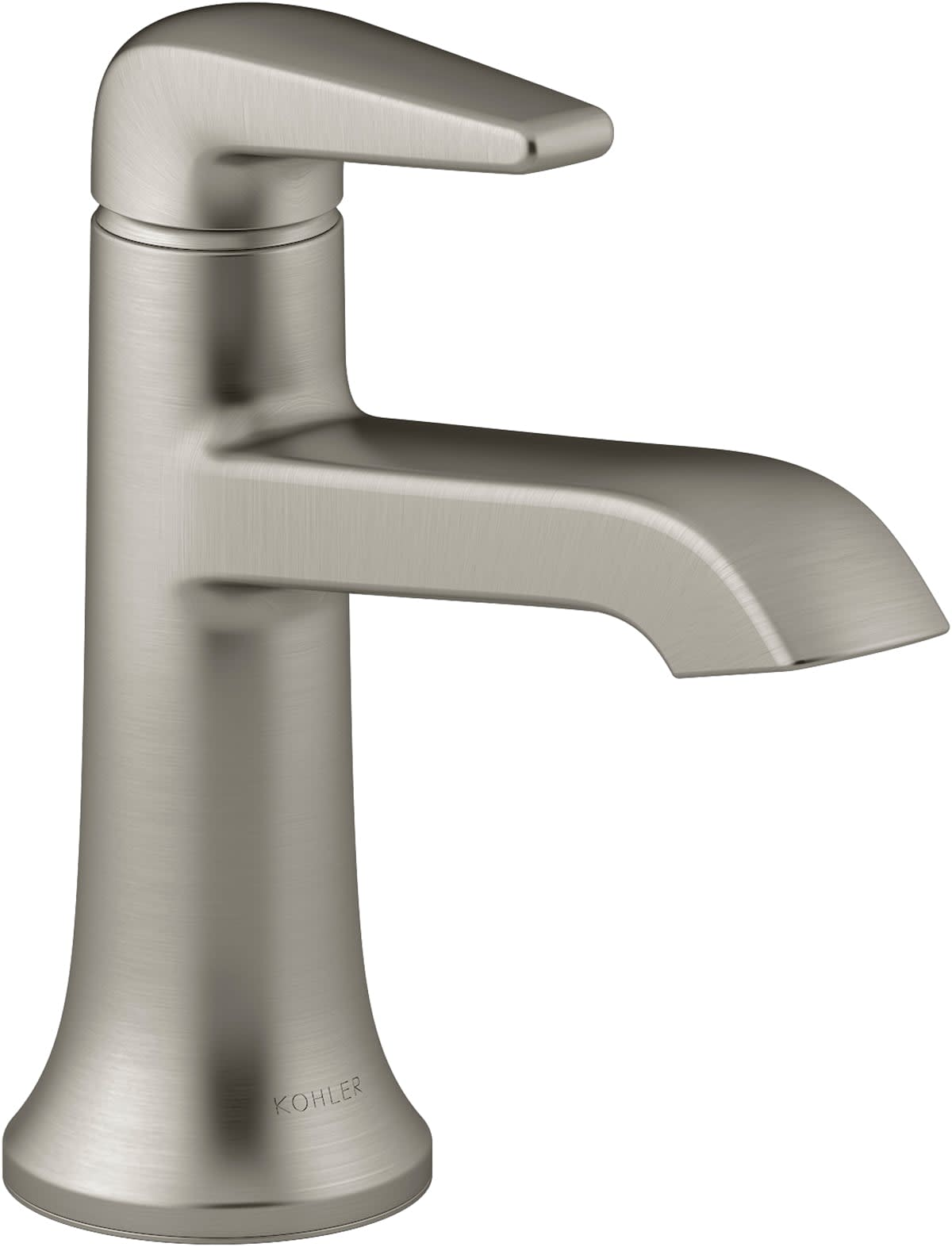 Kohler K 22022 4 Bn Vibrant Brushed Nickel Tempered 1 2 Gpm Single Hole Bathroom Faucet With Pop Up Drain Assembly Faucetdirect Com
