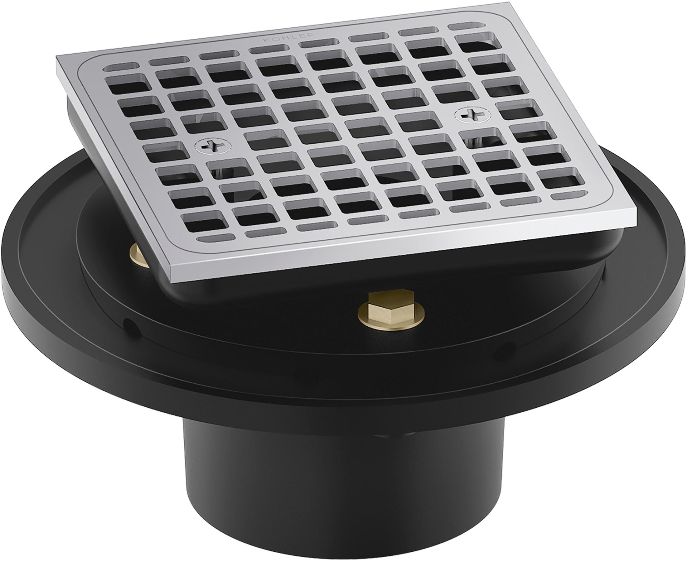Kohler K 22673 Bn Brushed Nickel Clearflo Square Brass Tile In Shower Drain Faucet Com