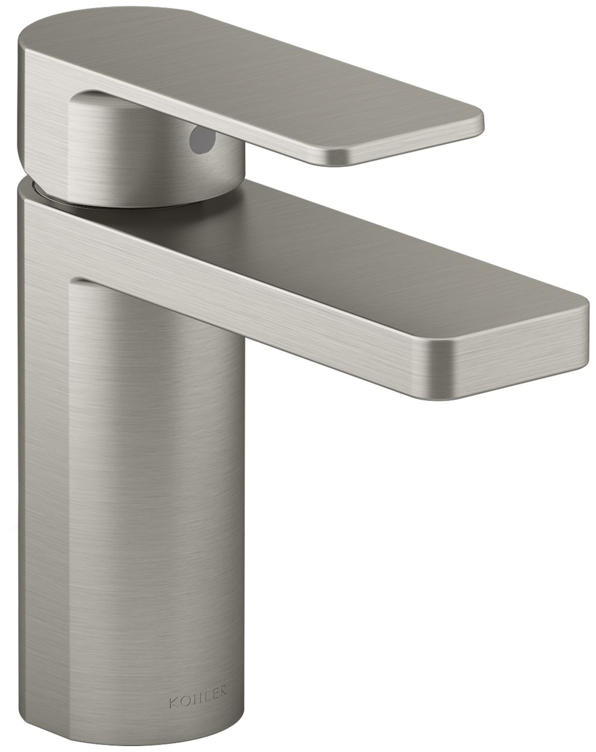 Kohler K 23472 4 Bn Vibrant Brushed Nickel Parallel 1 2 Gpm Single Hole Bathroom Faucet With Pop Up Drain Assembly Faucetdirect Com