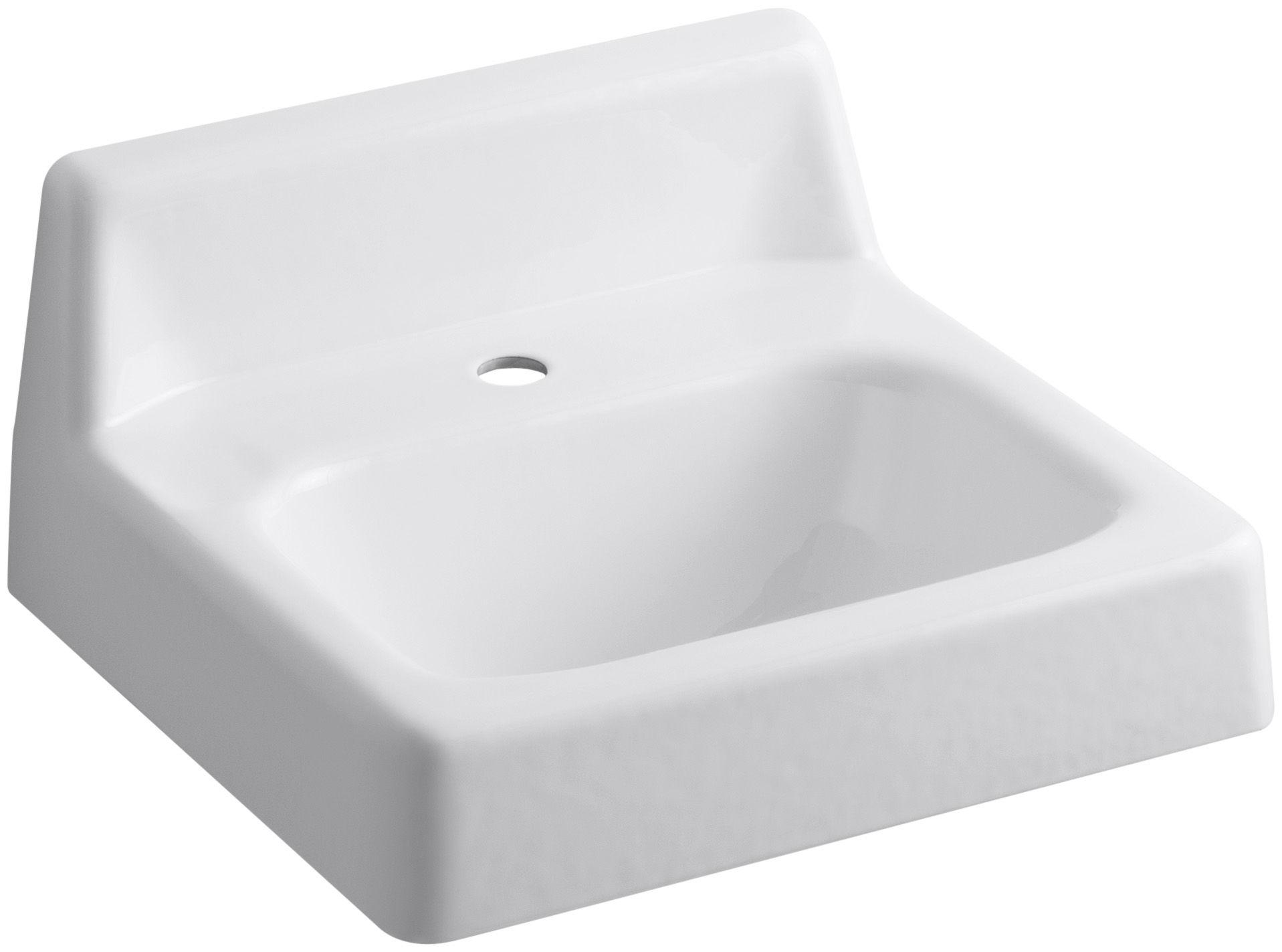 Kohler K 2812 0 White Hudson 15 Cast Iron Wall Mounted Bathroom