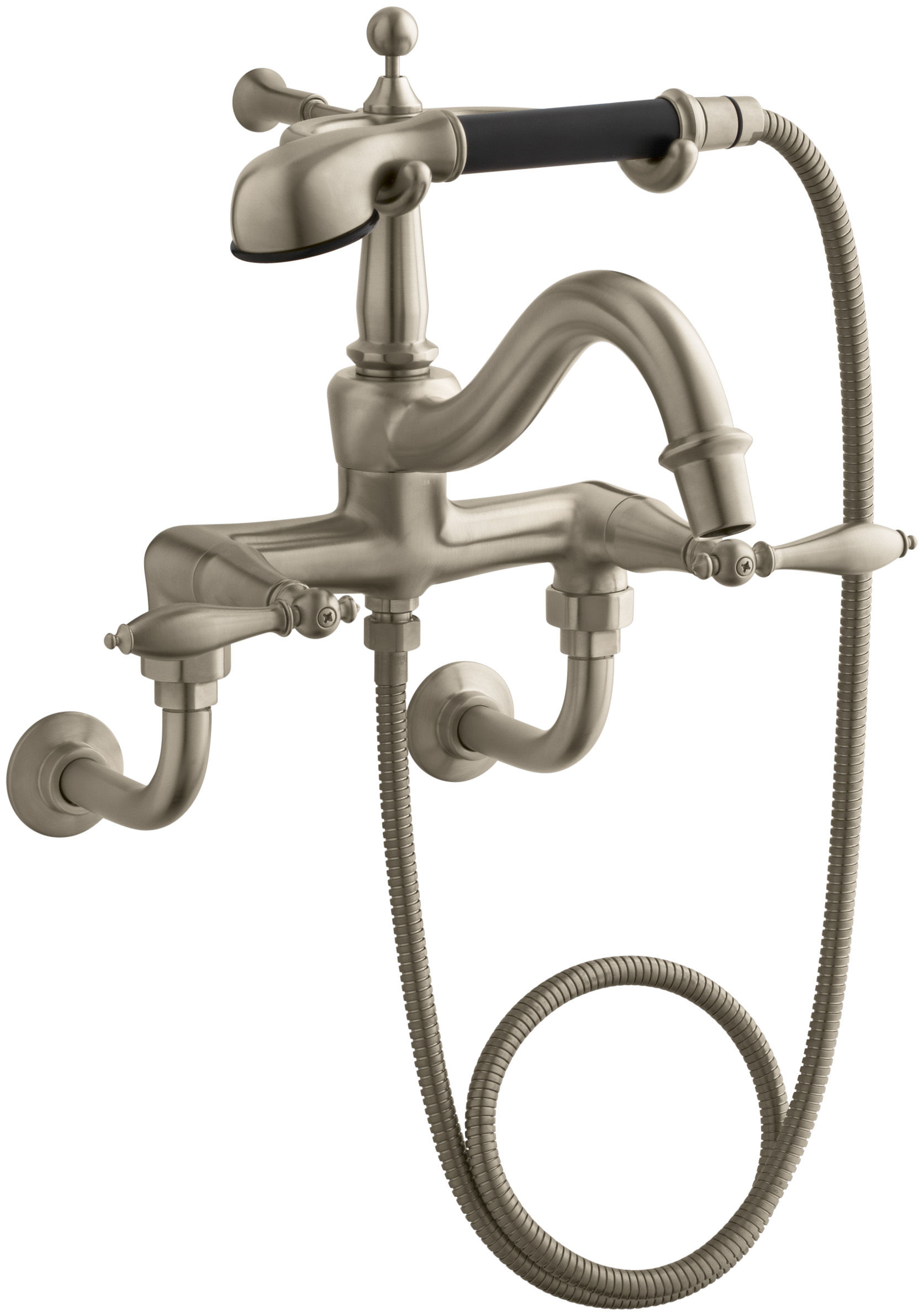 kohler roman tub faucet with hand shower. Kohler K 331 4M BV Brushed Bronze Double Handle Roman Tub Faucet with Metal  Lever Handles and Handshower from the Finial Traditional Series FaucetDirect
