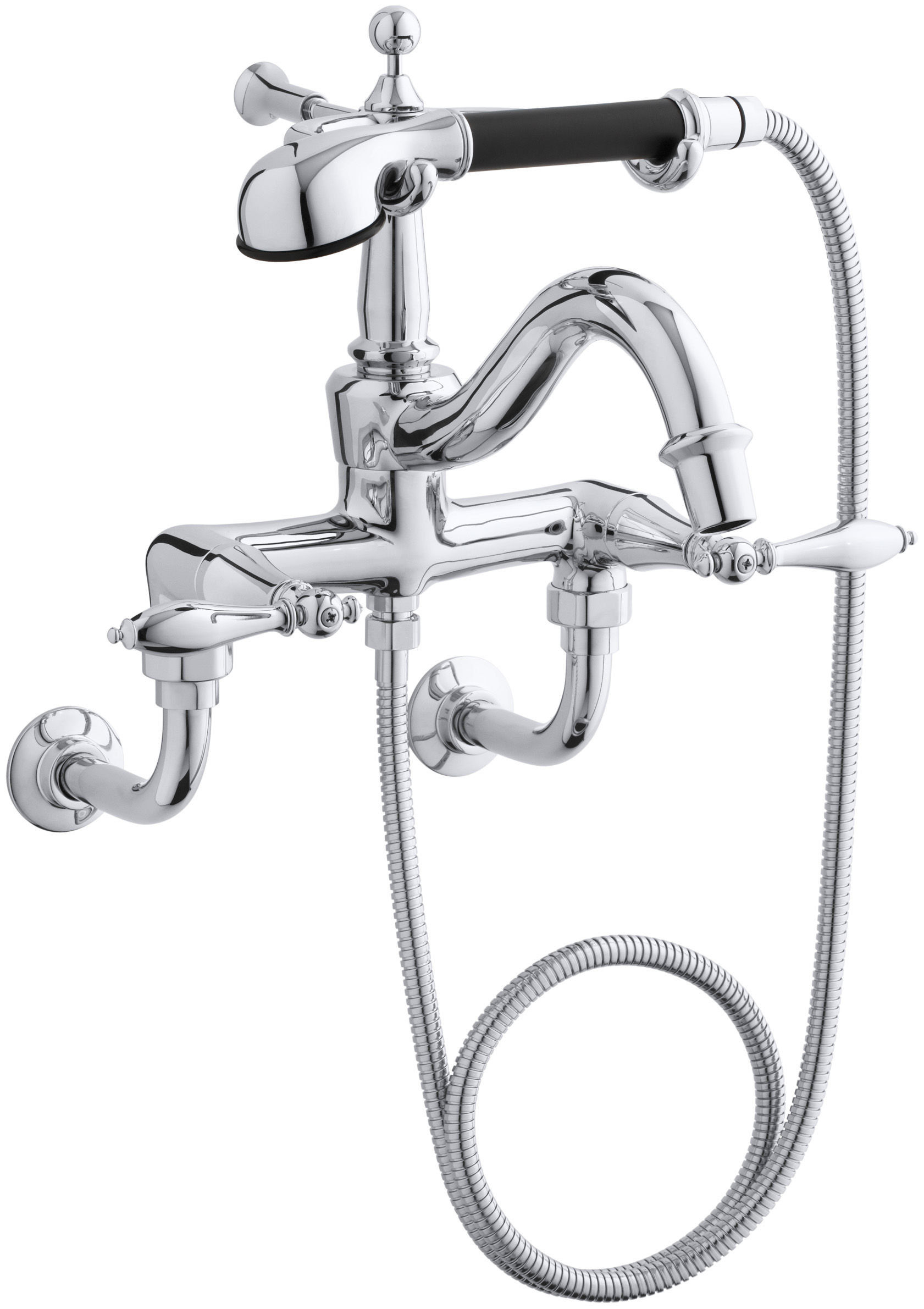 Kohler K-331-4M-CP Polished Chrome Double Handle Wall ... on mobile home bathroom mirrors, mobile home door handles, mobile home door locks, mobile home hand rails, residential shower handles, mobile home faucets, hotel shower handles, commercial shower handles, contemporary shower handles, rv shower handles, mobile home toilet, apartment shower handles, mobile home bathroom accessories, mobile home sinks,