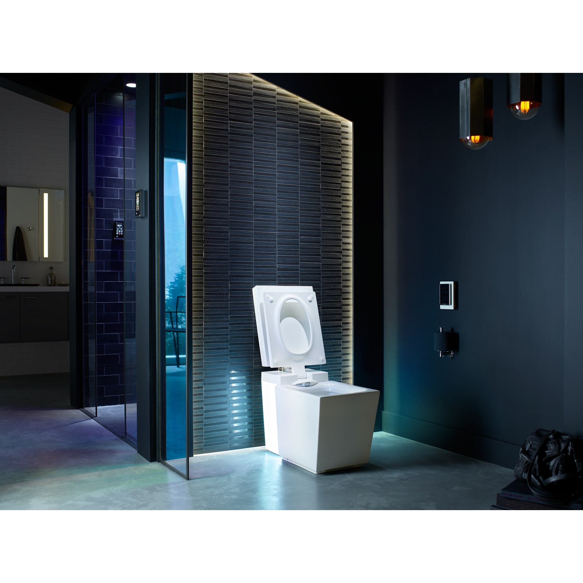 Kohler K-3901-NSR-0 White Numi Dual Flush One-Piece Elongated ...