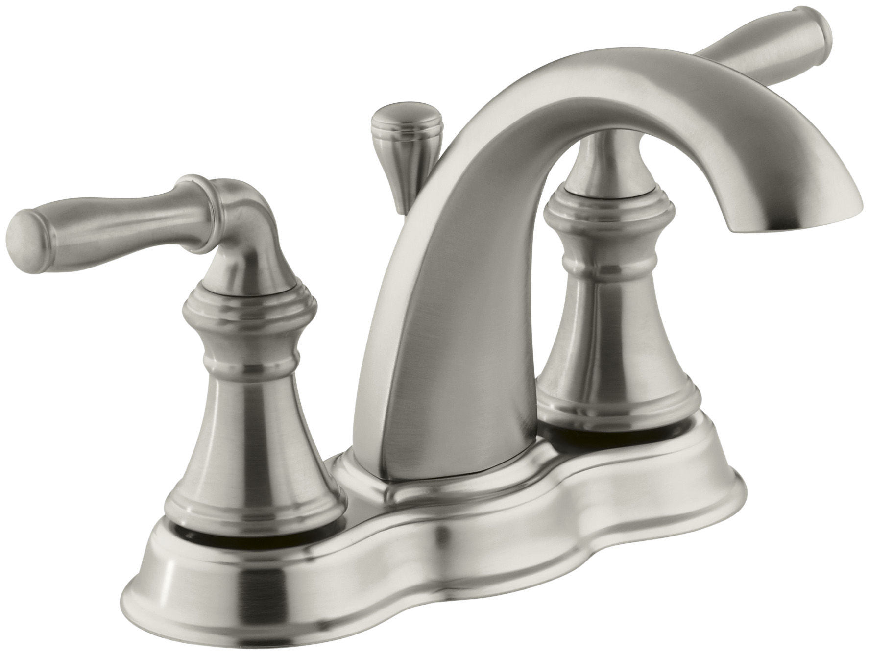 Kohler K-393-N4-CP Polished Chrome Devonshire Centerset Bathroom ...