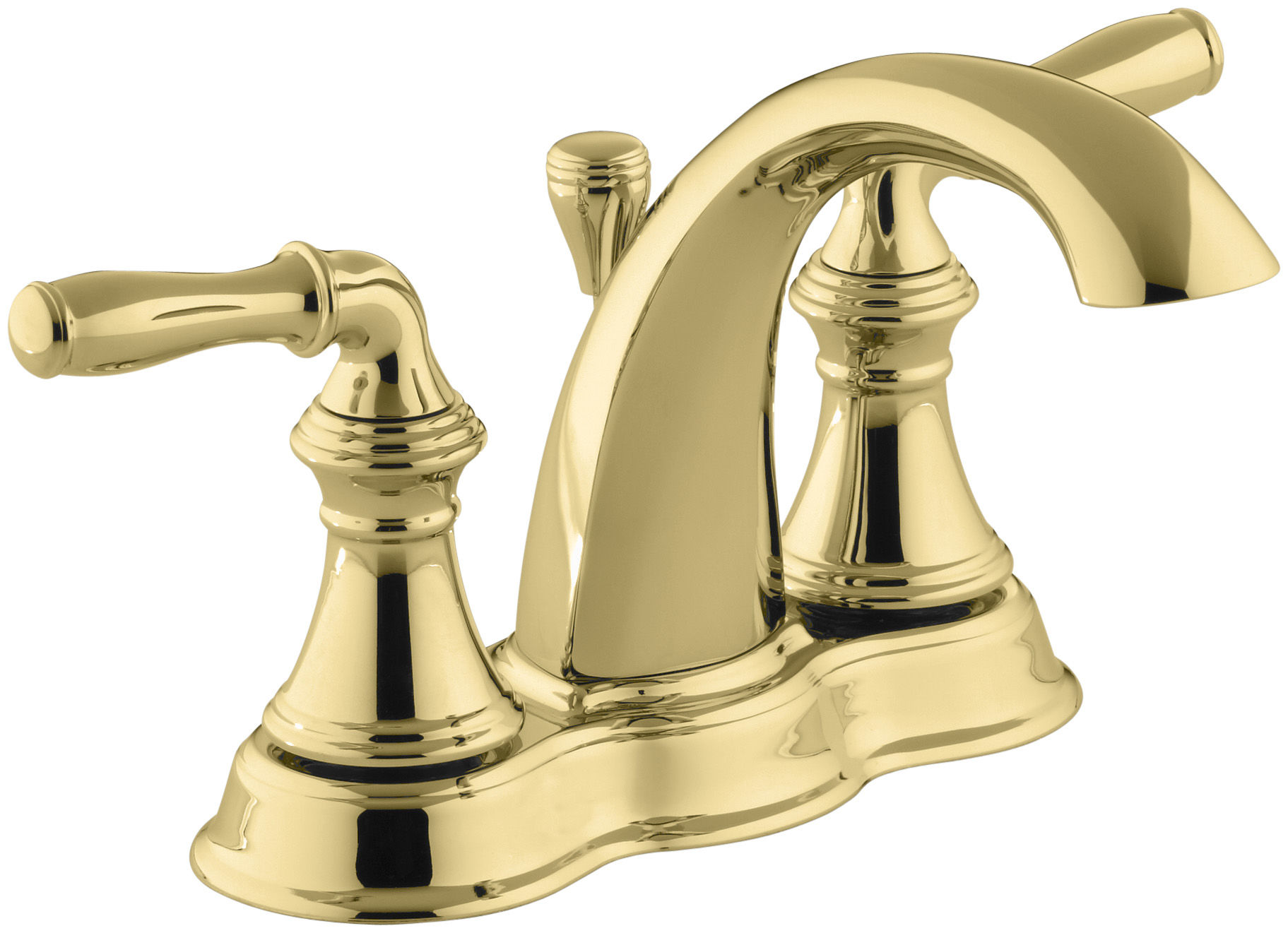 Kohler KNPB Vibrant Polished Brass Devonshire Centerset - Kohler devonshire bathroom fixtures