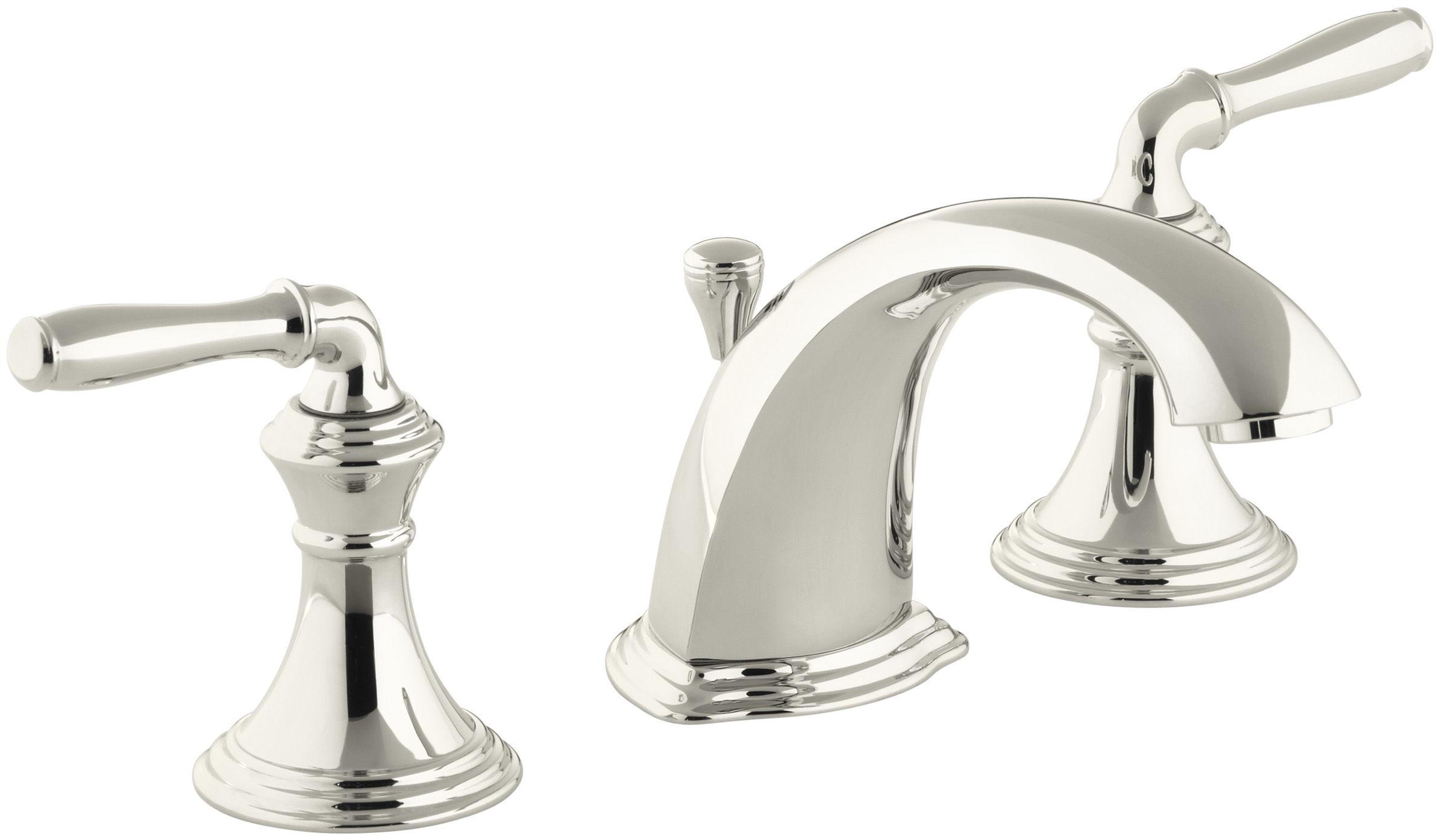 Kohler K 394 4 Sn Vibrant Polished Nickel Devonshire Widespread Bathroom Faucet With Ultraglide Valve And Quick Mount Technology Free Metal Pop Up Drain