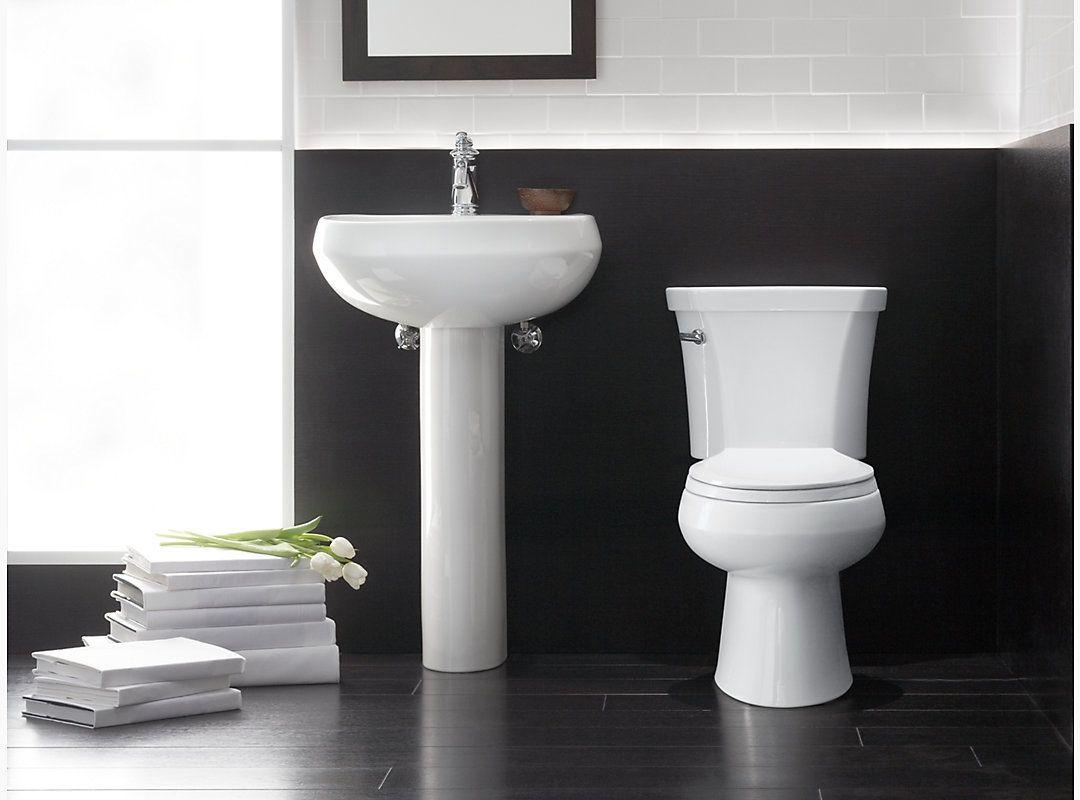 Kohler K-4198-0 White Wellworth Elongated Toilet Bowl - Less Seat ...