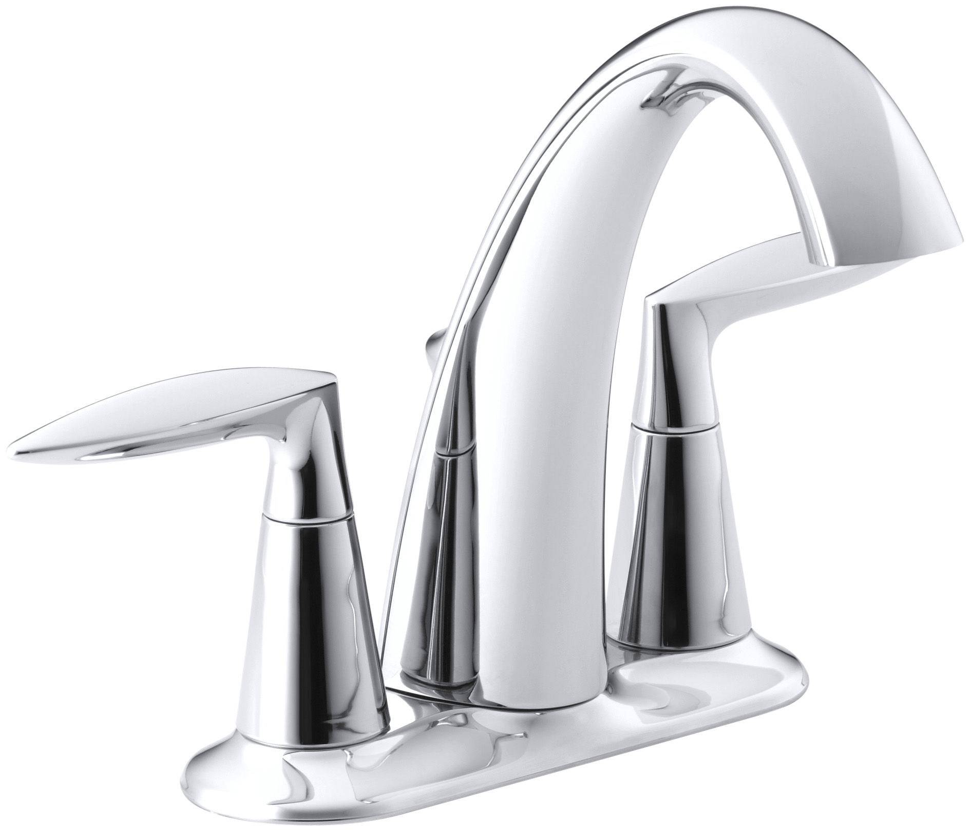Kohler K-45100-4-CP Polished Chrome Alteo Centerset Bathroom Faucet ...