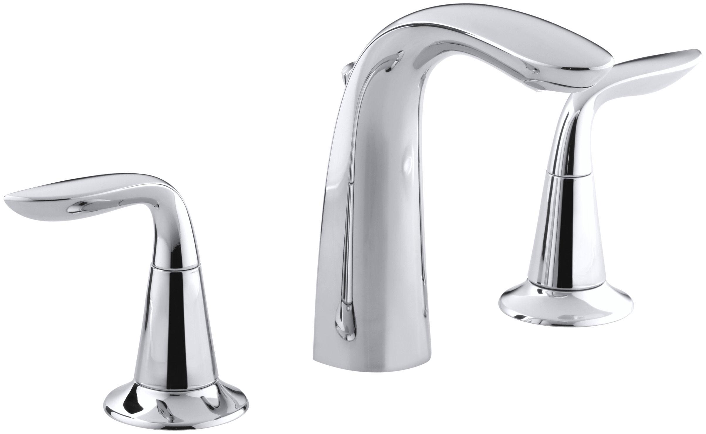 Kohler K-5317-4-CP Polished Chrome Refinia Widespread Bathroom ...