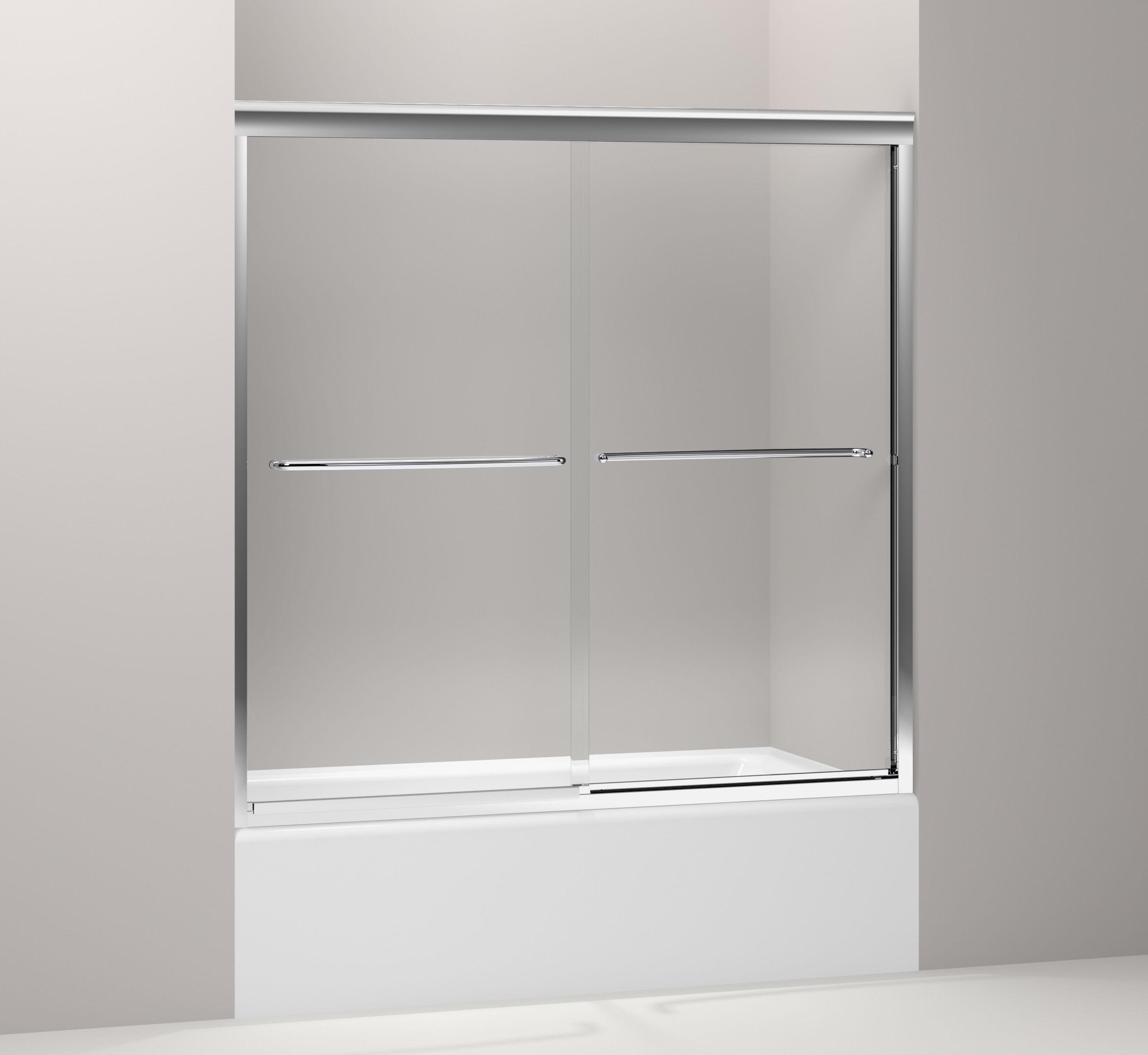Kohler K 702200 L Mx Matte Nickel Fluence Frameless Byp Bath Door With Crystal Clear Gl 58 5 16 H X 59 8 W Faucet