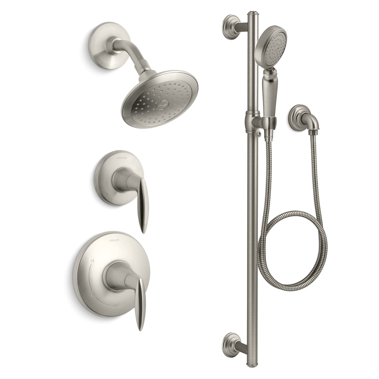 Kohler K-ALTEO-RT11-4E-BN Vibrant Brushed Nickel Alteo Rite-Temp ...