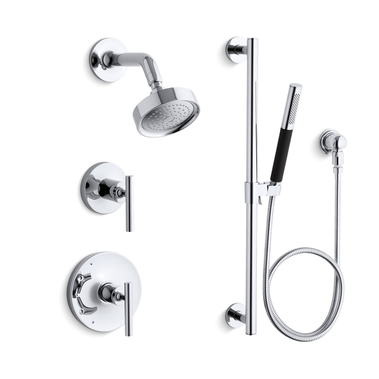 Kohler K-PURIST-SHWR-BNDL-HS-CP Polished Chrome Kohler Purist ...