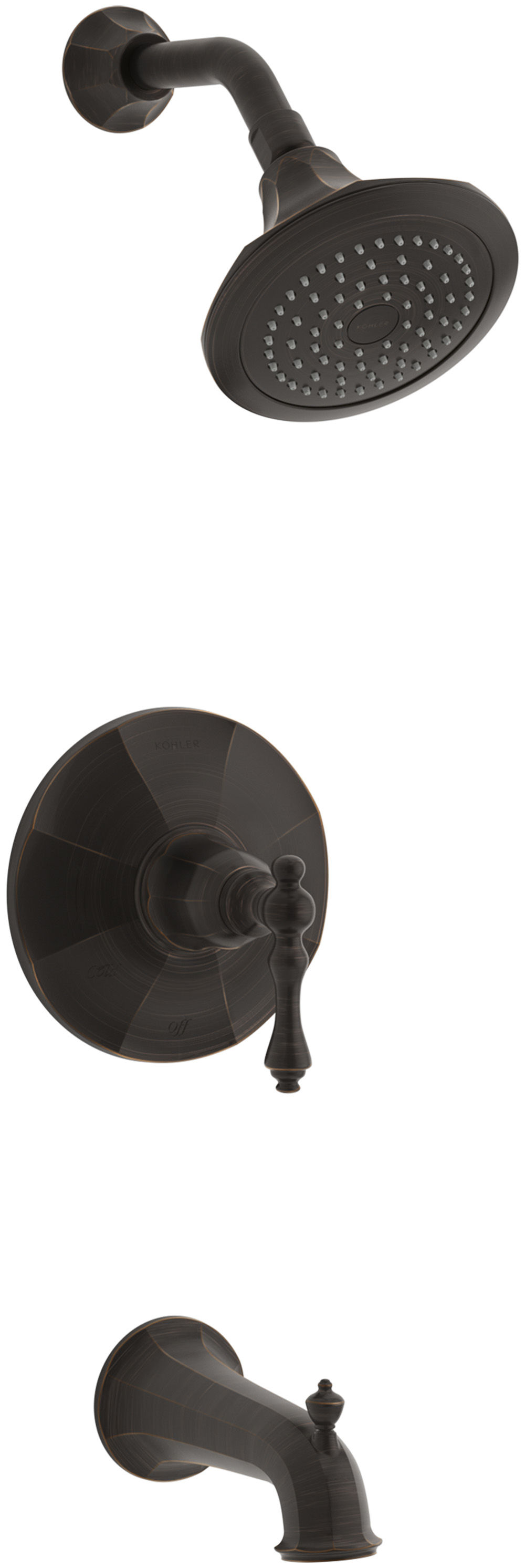 Kohler K-T13492-4-BRZ Oil Rubbed Bronze (BRZ) Kelston Rite-Temp Tub ...