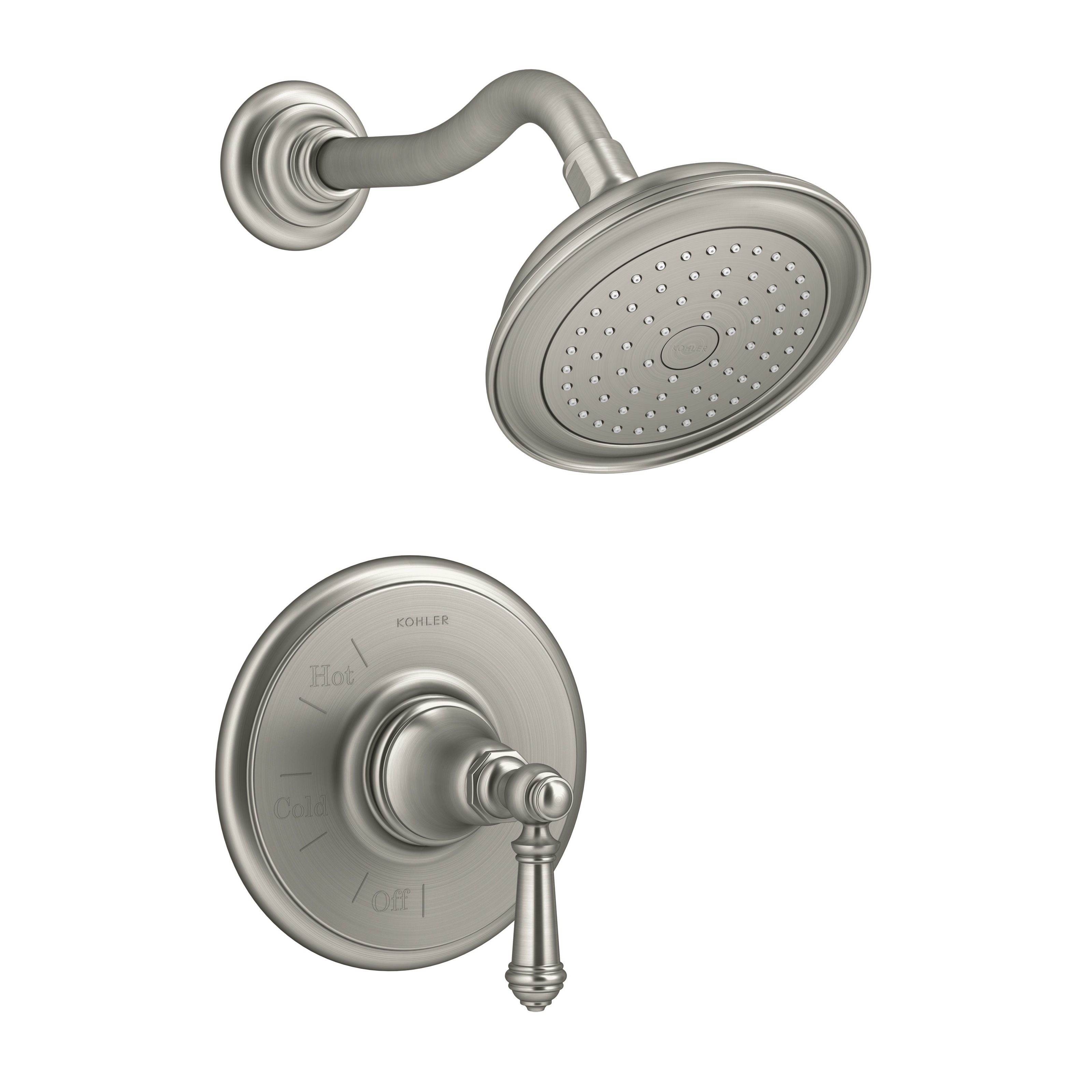 Charmant Kohler K T72767 4 SHOWER SN Vibrant Polished Nickel Artifacts Shower Trim  Package With Single Function Rain Shower Head And Katalyst Technology    Faucet.com