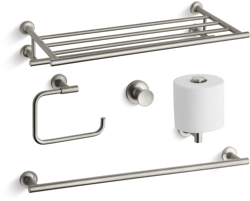 Kohler Purist Best Accessory Pack-BN Brushed Nickel Purist 24\