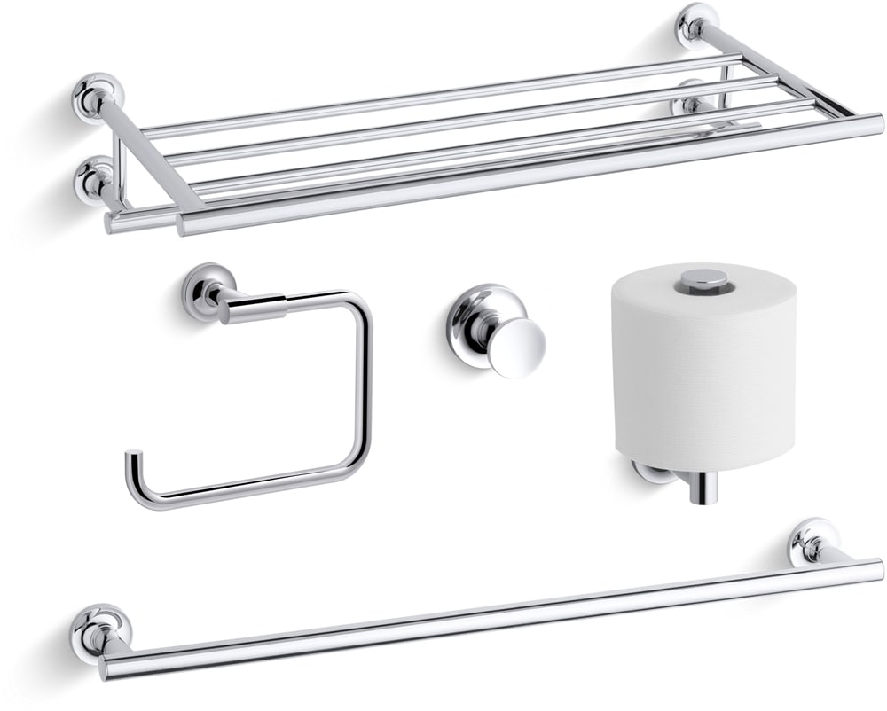 Kohler Purist Best Accessory Pack-BN Brushed Nickel Purist 24\