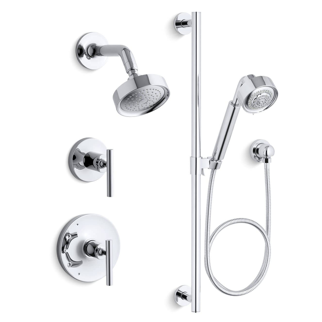 Kohler K-PURIST-RT11-4-CP Polished Chrome Purist Rite-Temp Pressure ...