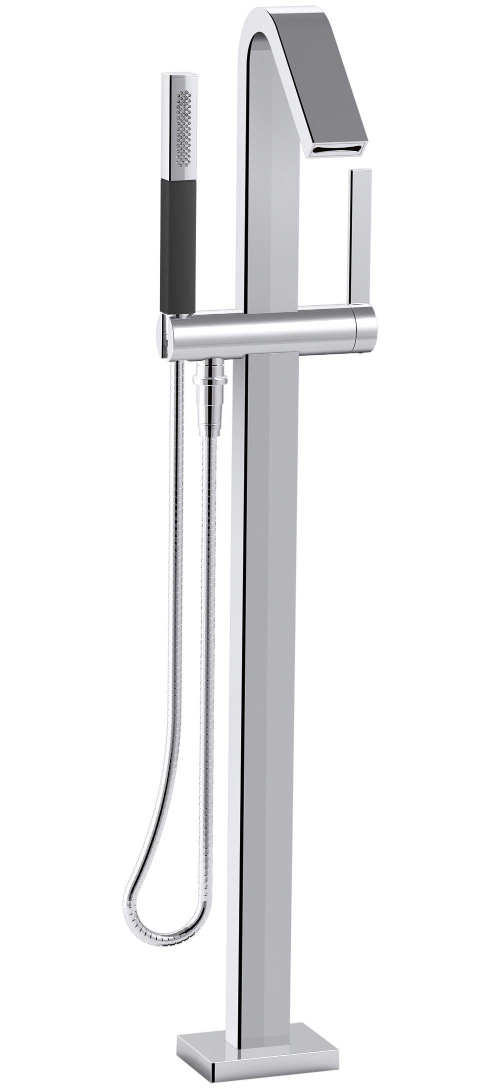 Kohler K-T97330-4-CP Polished Chrome Loure® Floor Mounted Bath ...