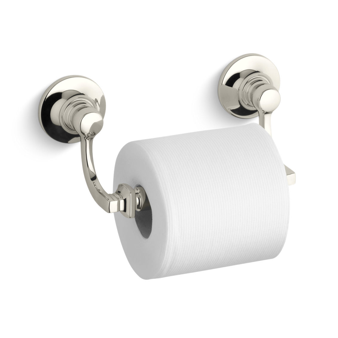 Kohler K-11415-BN Brushed Nickel Bancroft Double Post Toilet Paper ...