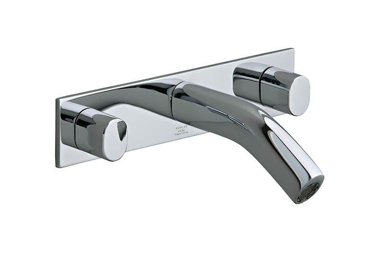 Kohler K-10086-9-BN Brushed Nickel Oblo Widespread Bathroom Faucet ...