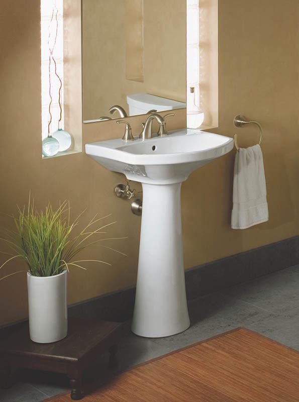 Kohler K-2362-8-6 Skylight Cimarron Pedestal Bathroom Sink with 8 ...