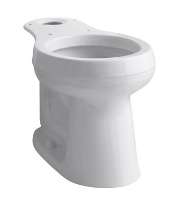 Kohler K 4829 0 White Cimarron Comfort Height Round Front Toilet Bowl Only With 10 Rough In Faucet