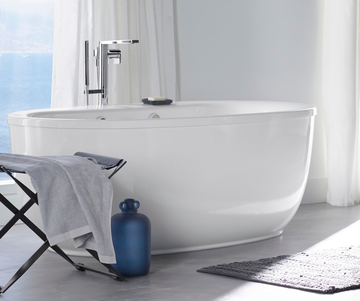 Charmant Kohler K T73087 4 CP Polished Chrome Composed Floor Mounted Tub Filler With  Hand Shower And Built In Diverter   Faucet.com