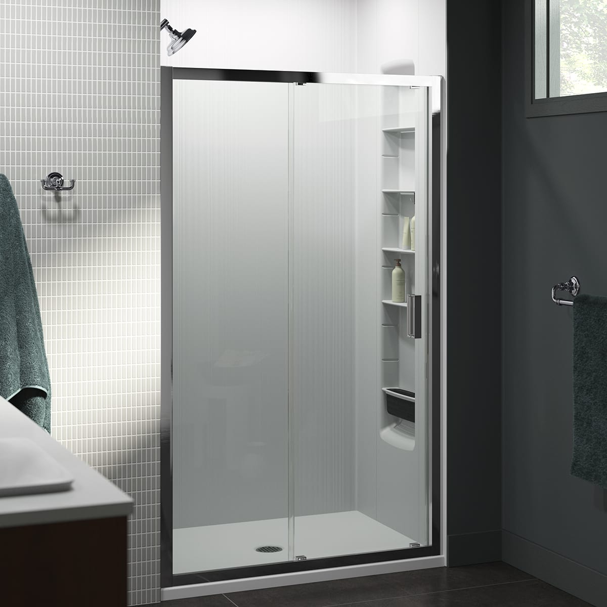 Kohler K 706145 L Shp Bright Polished Silver Aerie 48 Three Wall