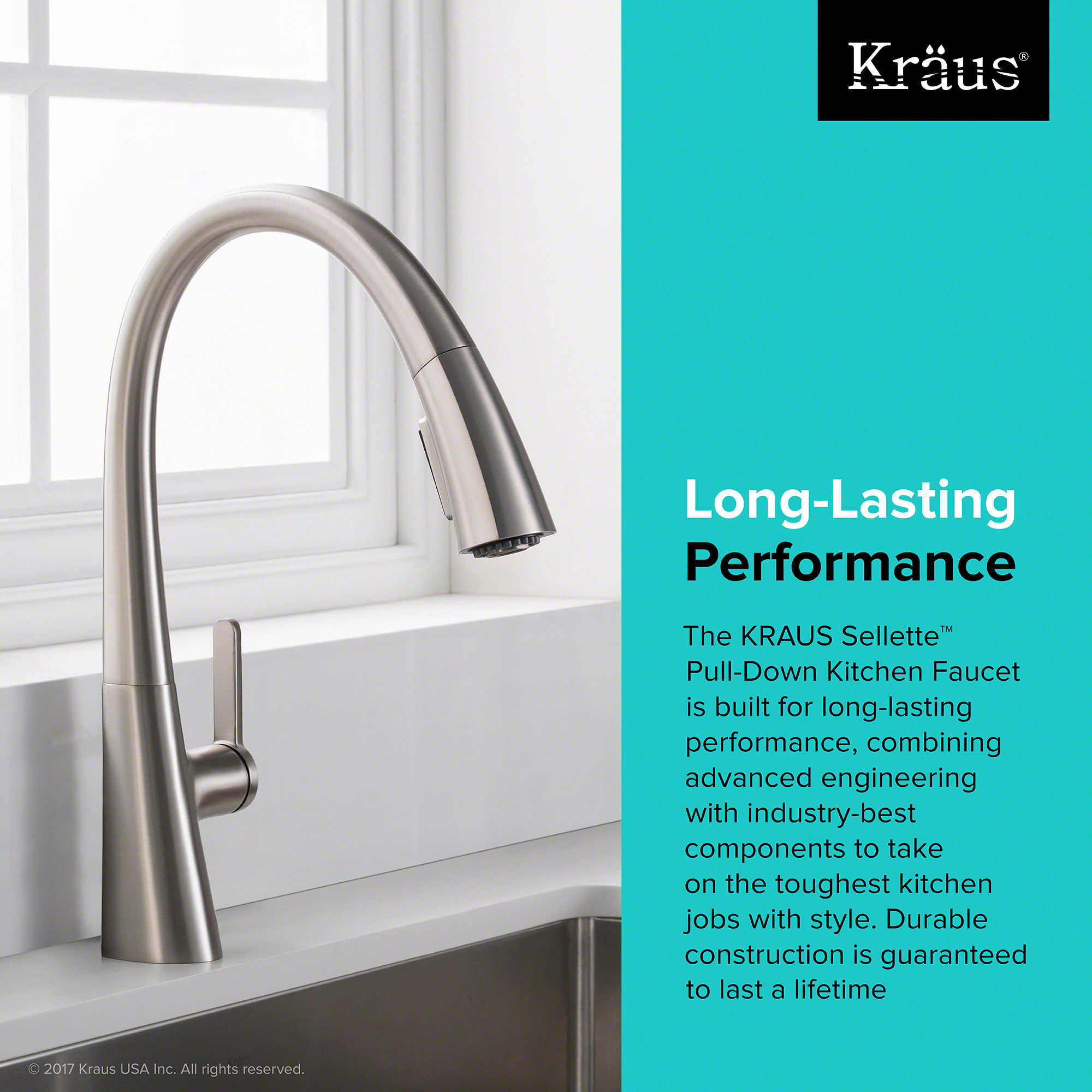 Kraus KPF-1673SFS Spot-Free Stainless Steel Nolen™ Single Handle ...