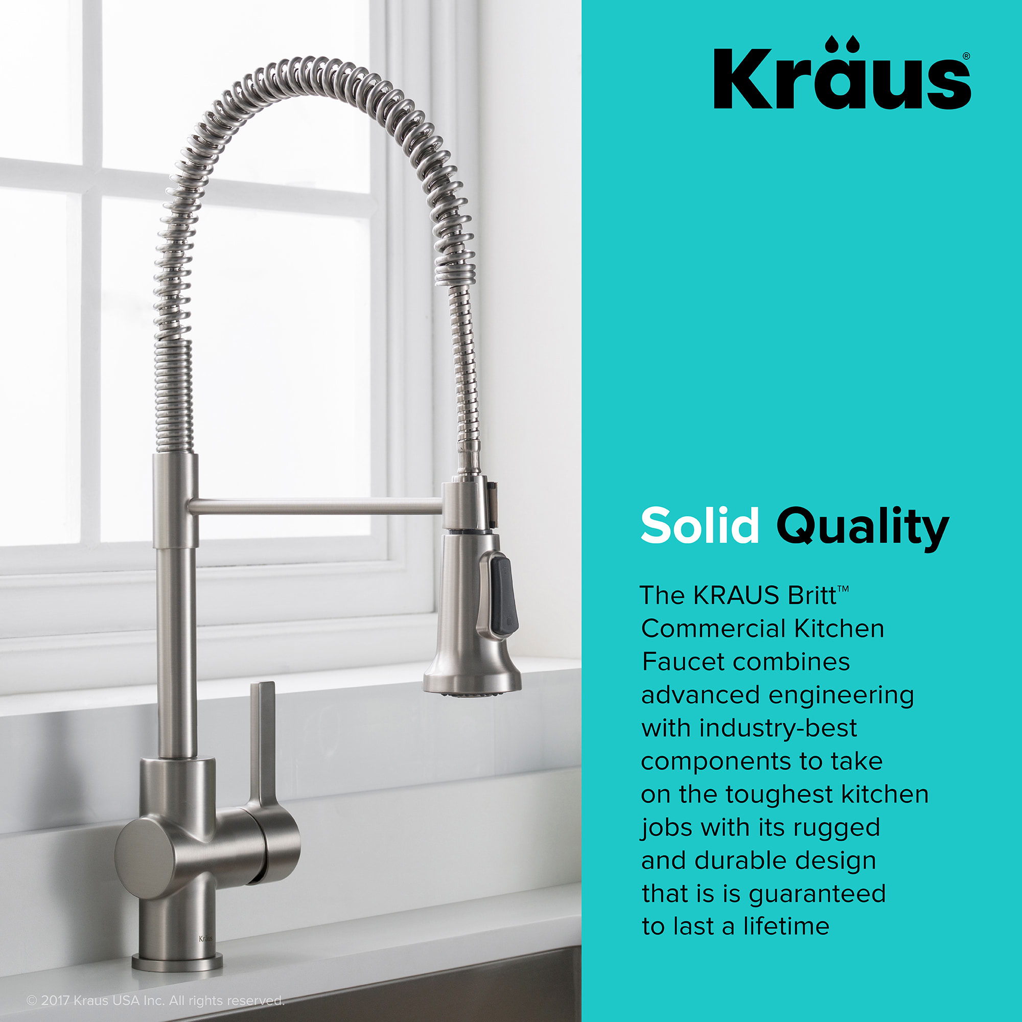 Kraus KPF-1690SFS Spot Free Stainless Britt Pull-Down Spray Kitchen ...