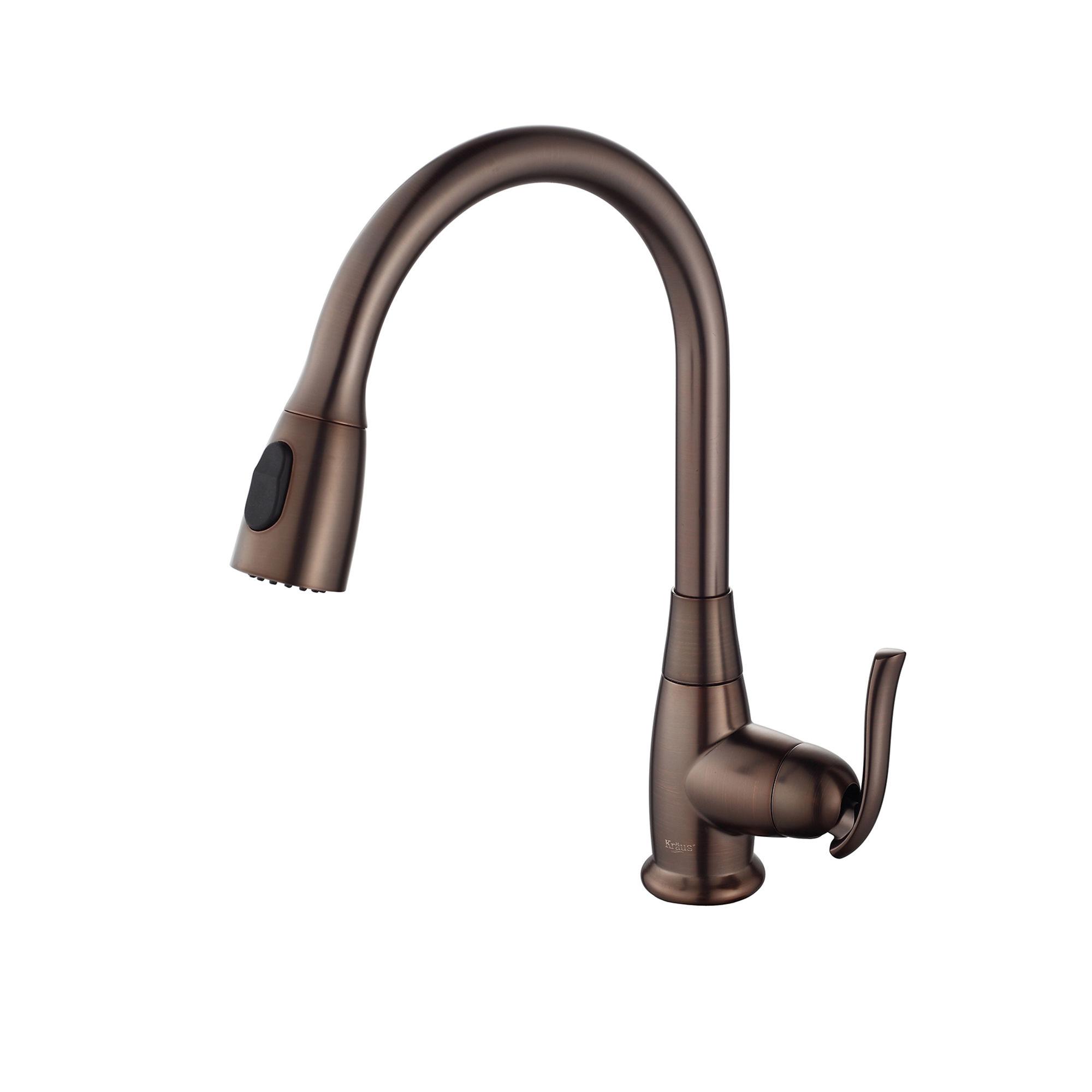 Kraus kbu14 kpf 2230orb stainless steel oil rubbed bronze kitchen combo 31 1 2 undermount single basin 16 gauge stainless steel kitchen sink with
