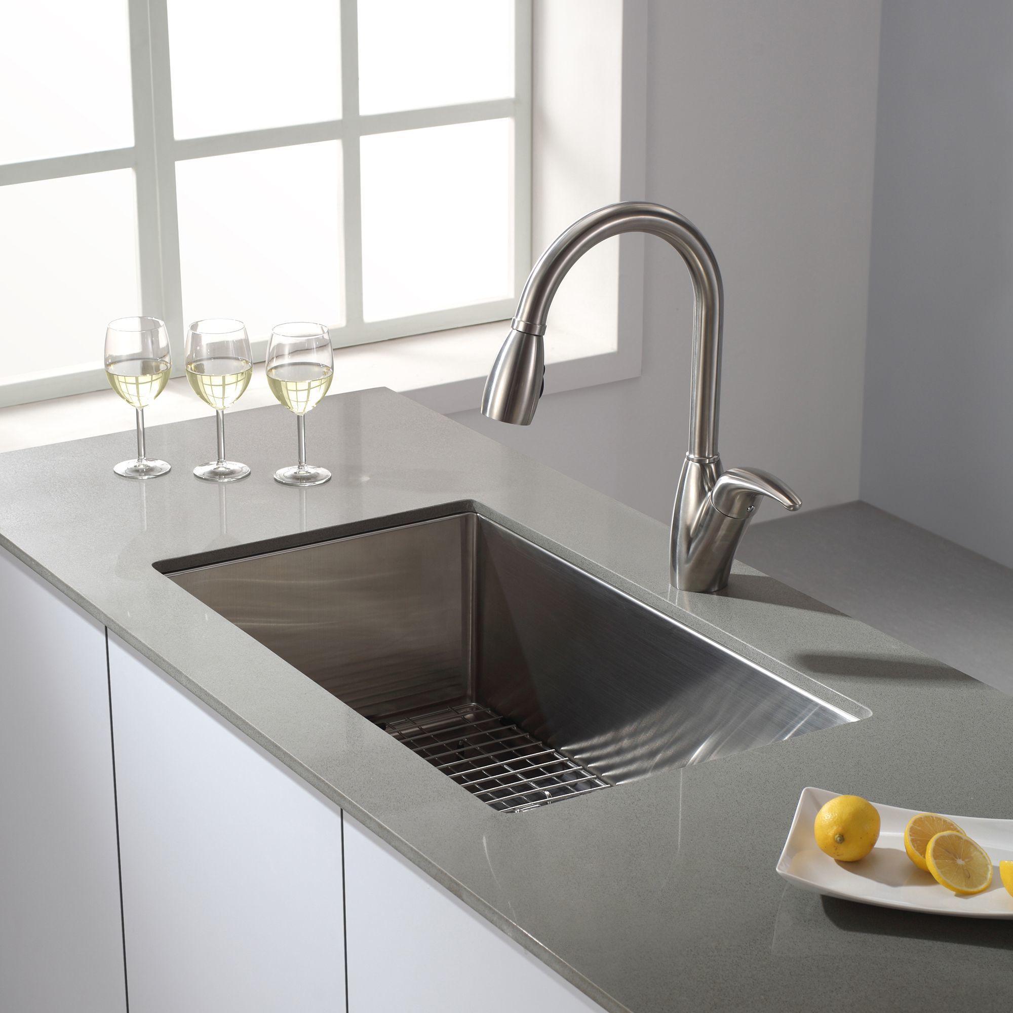 Kraus KHU100 30 Kitchen Sink Build