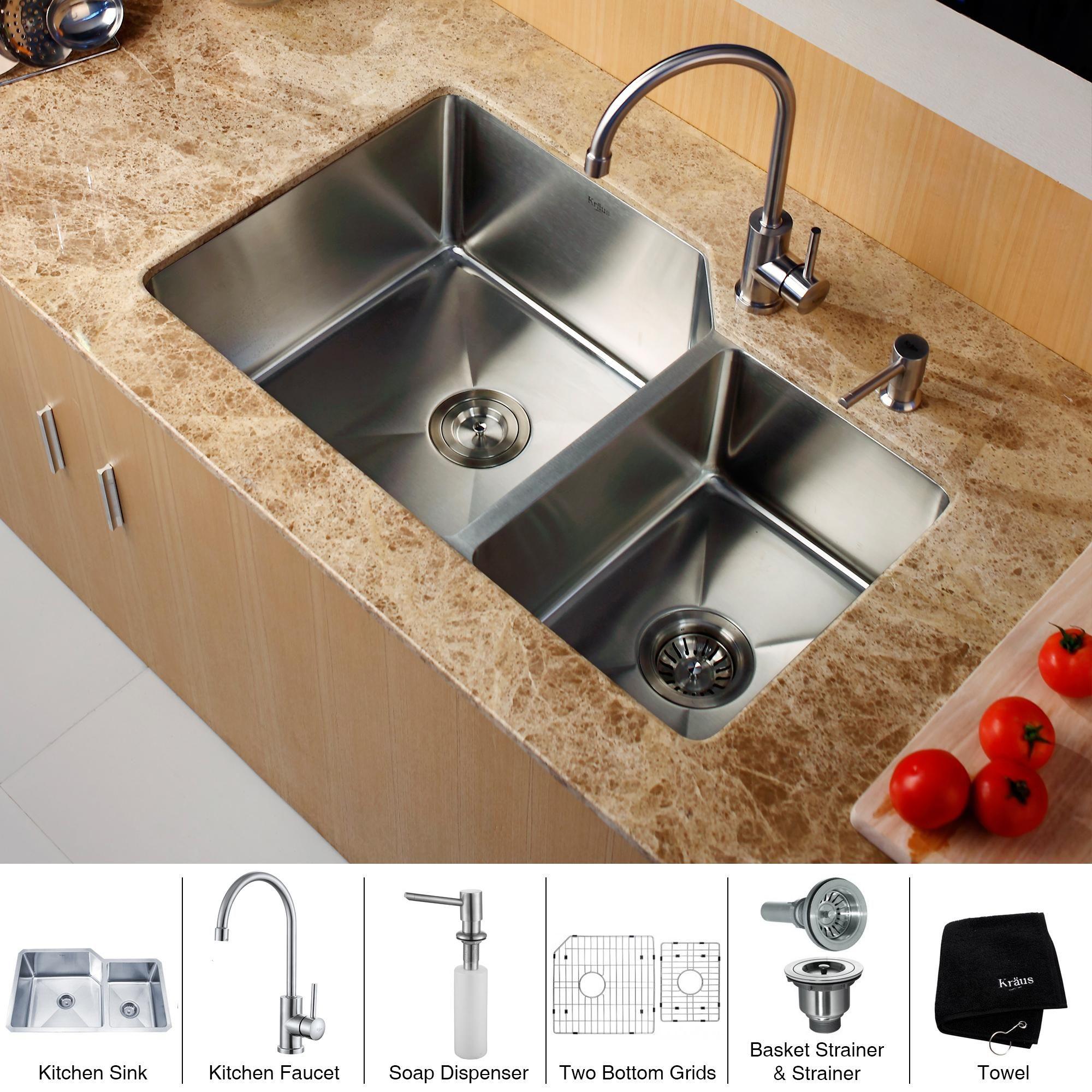 Kraus Khu123 32 Kpf2160 Sd20 Stainless Steel Kitchen Combo 32