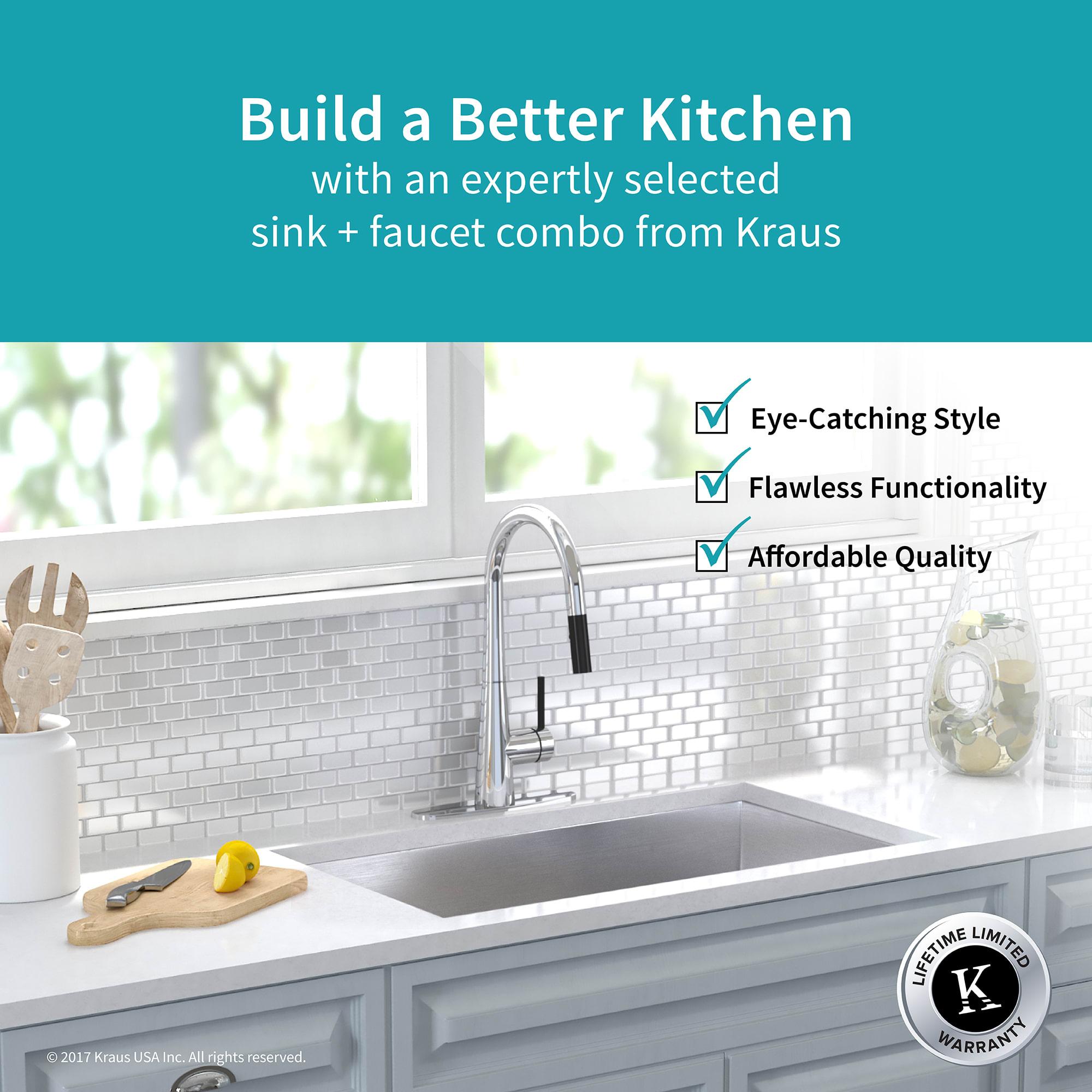 Kraus KHU32-2730-41CH Chrome Kitchen Combo 31-1/2\