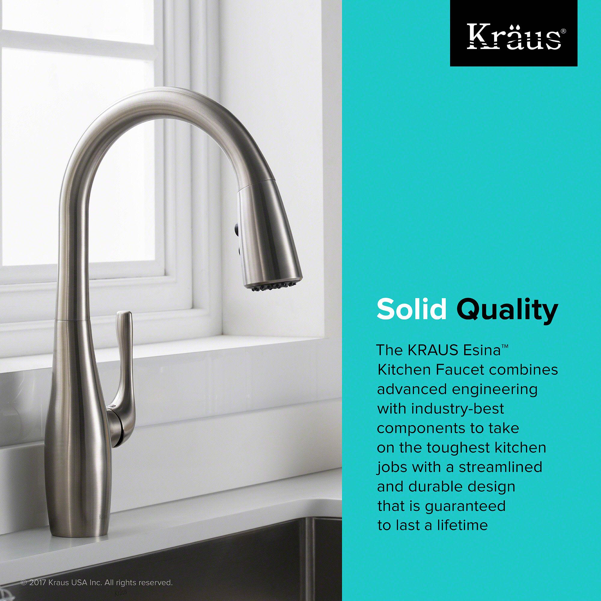 Kraus KPF-1670SFS Spot-Free Stainless Steel Esina™ Single Handle ...
