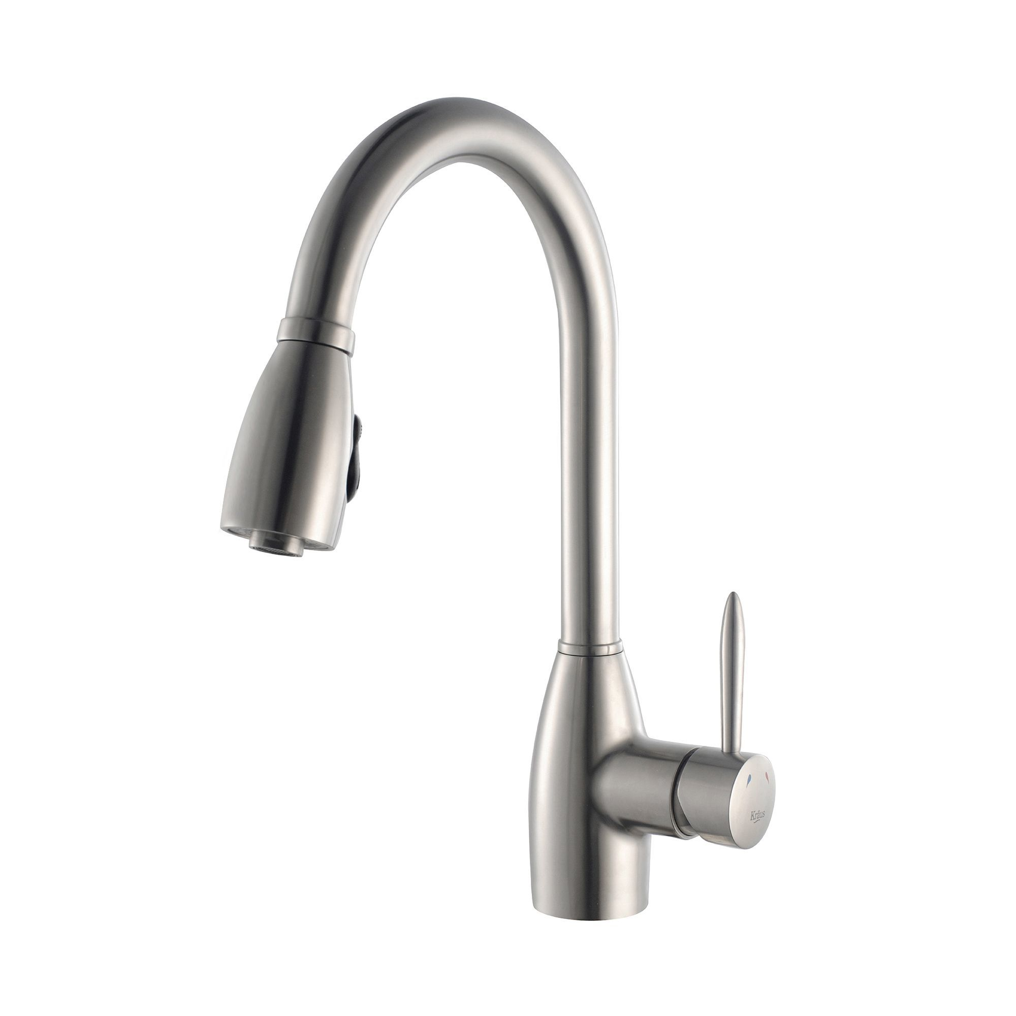 Kraus KPF-2130 Stainless Steel Pullout Spray Kitchen Faucet with ...