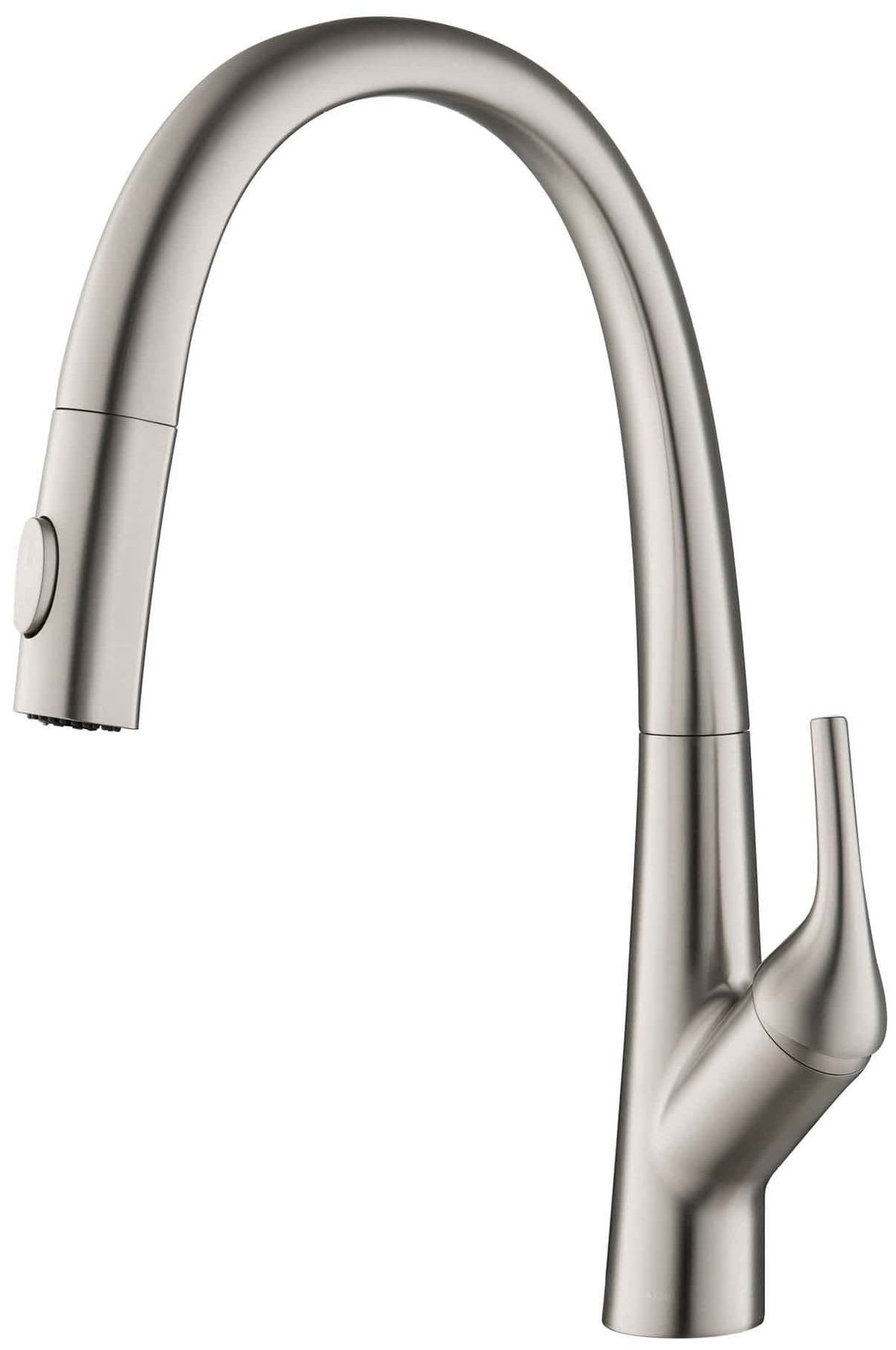 Kraus Kpf 2523sfs Spot Free Stainless Steel Arqo 1 8 Gpm Single Hole Pull Down Kitchen Faucet Faucet Com