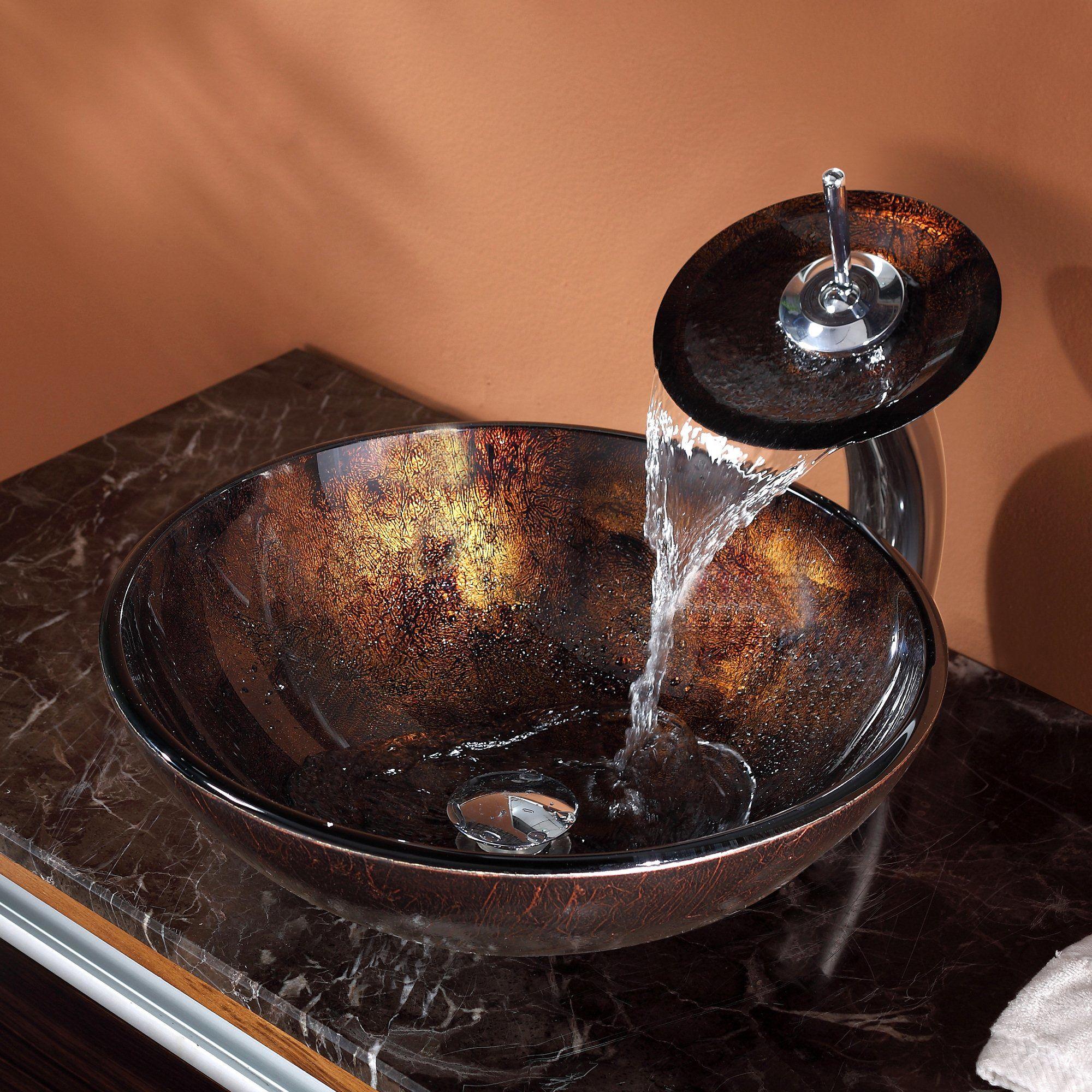 Kraus C-GV-684-12mm-10CH Chrome Bathroom Combo - 16-1/2\