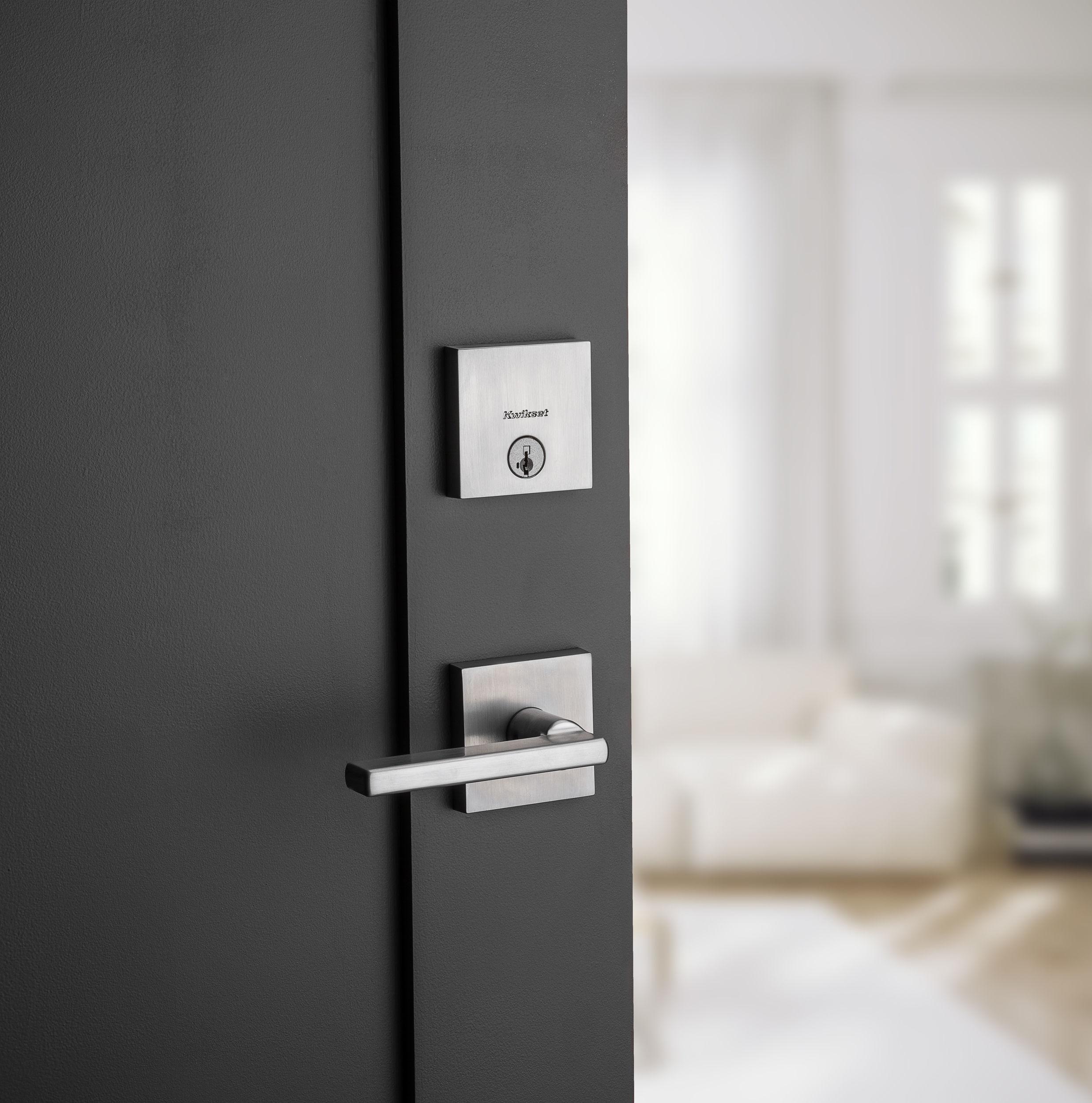 lock deadbolt camera doors arlington door kwikset hkit handleset focus smartcode satin entry nickel w