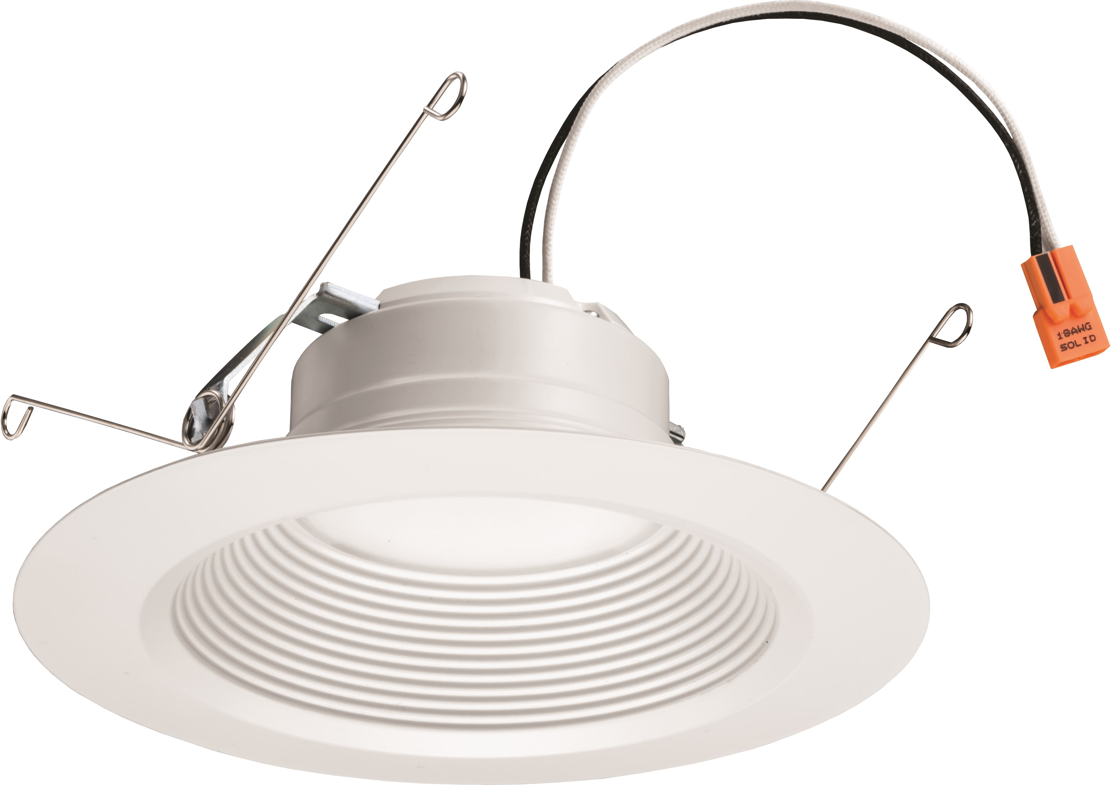 Lithonia Lighting 65bemw Led 30k 90cri M6 Matte White 3000k E Series Recessed 5 6 Led Ic Rated Baffle Trim Lightingdirect Com