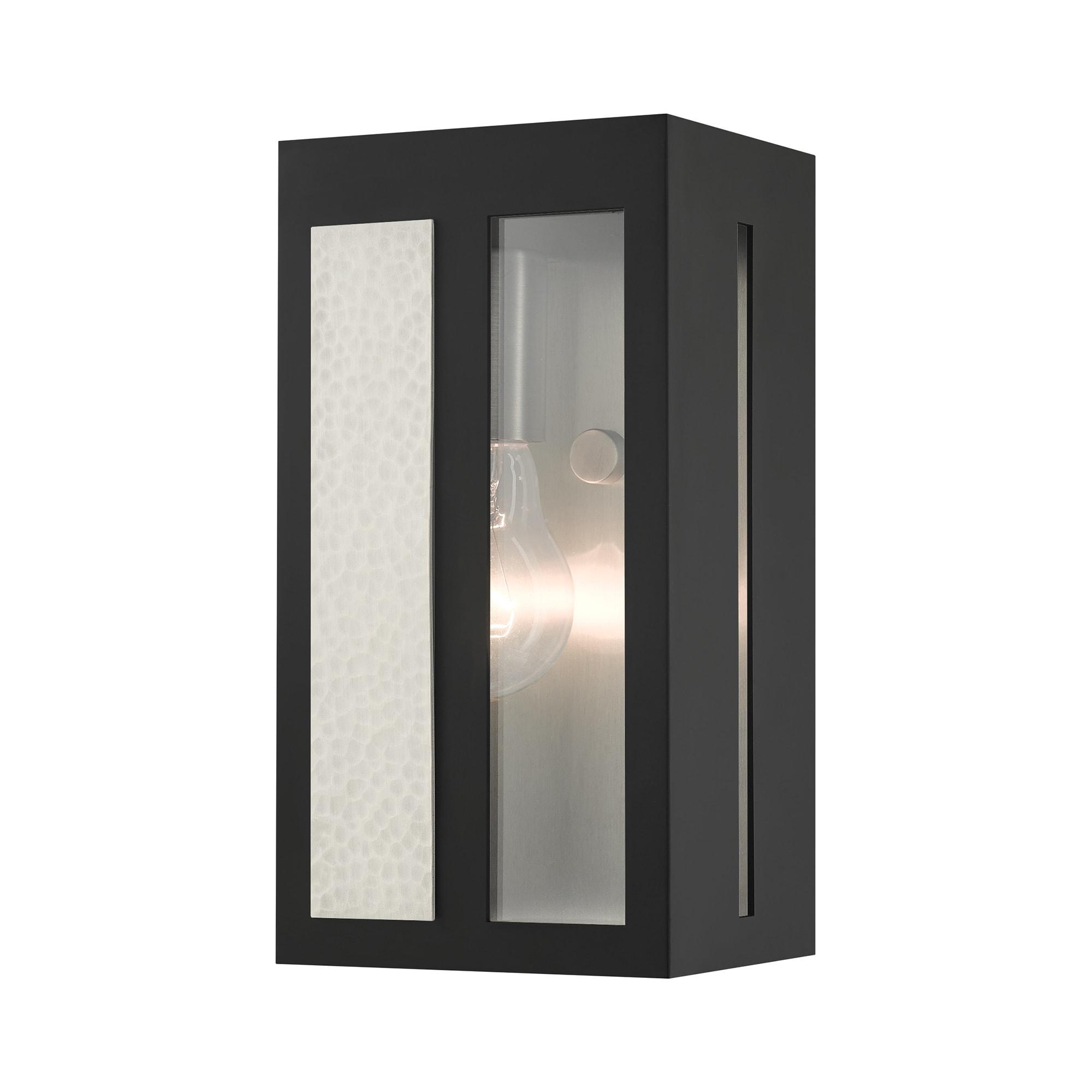 Livex Lighting 27411 04 Black Lafayette 9 Tall Outdoor Wall Sconce Lightingdirect Com