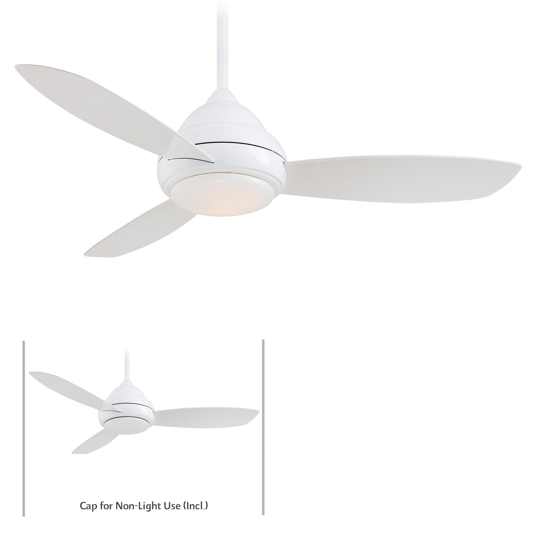 Minkaaire Undefined White 3 Blade 52 Concept I Indoor Ceiling Fan Integrated Light Handheld Remote Control And Blades Included Lightingdirect Com