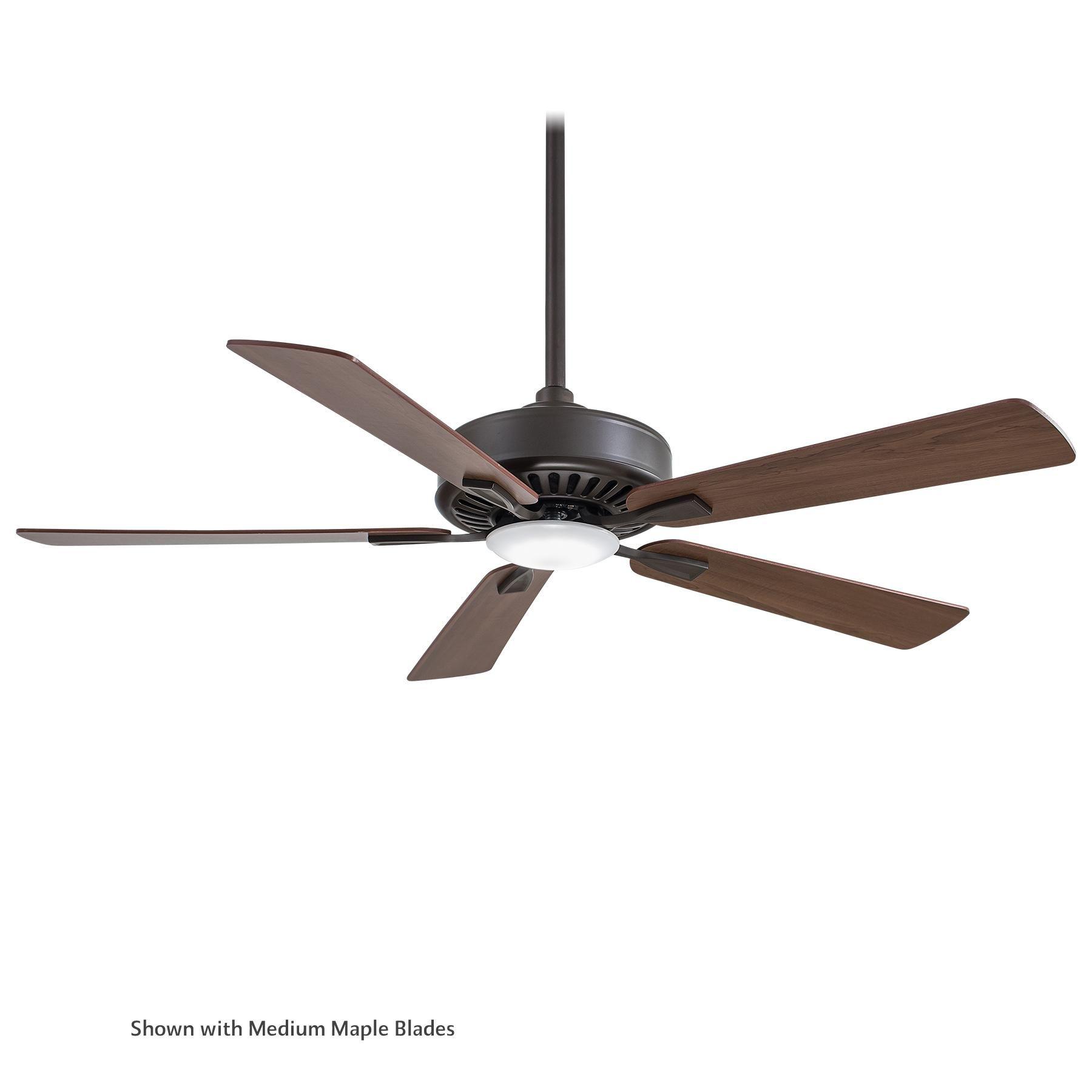 "MinkaAire F556L BN Brushed Nickel 52"" 5 Blade Indoor Ceiling Fan"