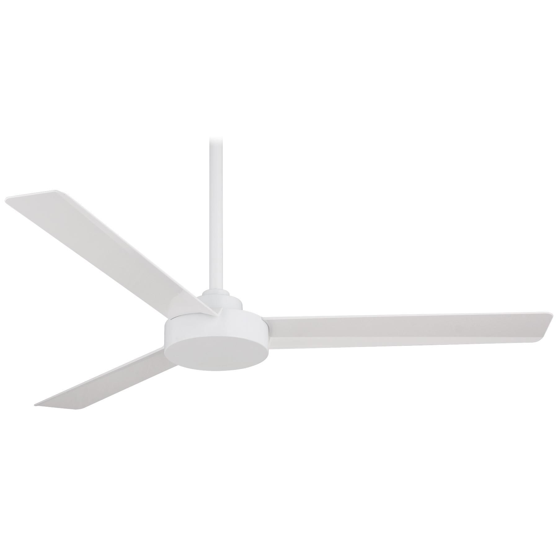 "MinkaAire F524 WHF Flat White 52"" 3 Blade Energy Star Indoor"