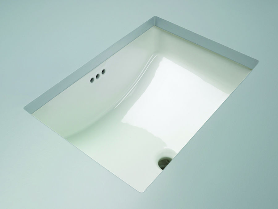 "Mirabelle MIRU1812WH White 18-11/16"" Porcelain Undermount Bathroom Sink with Overflow - Faucet.com"